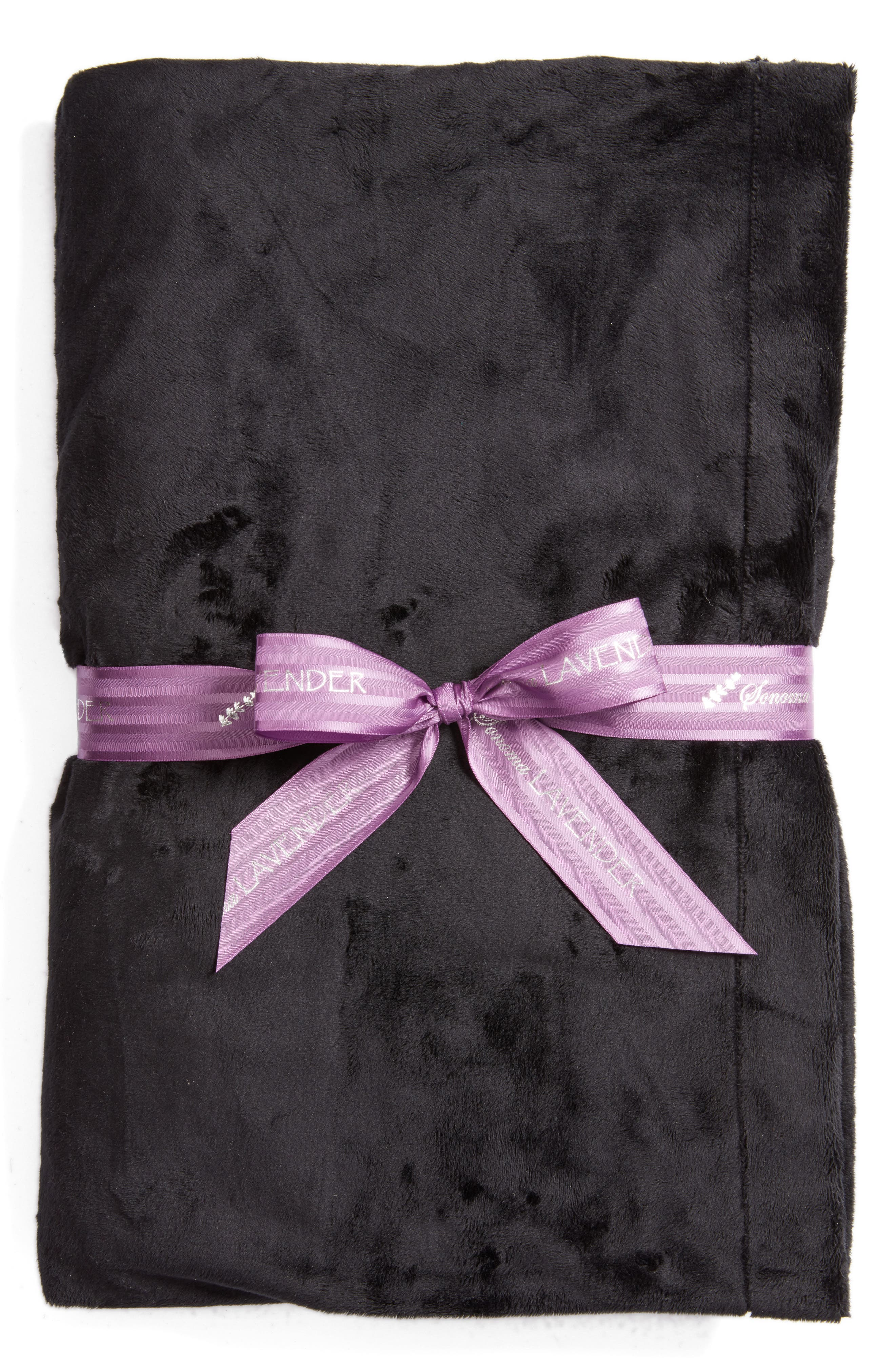 Solid Black Blankie,                             Main thumbnail 1, color,                             000