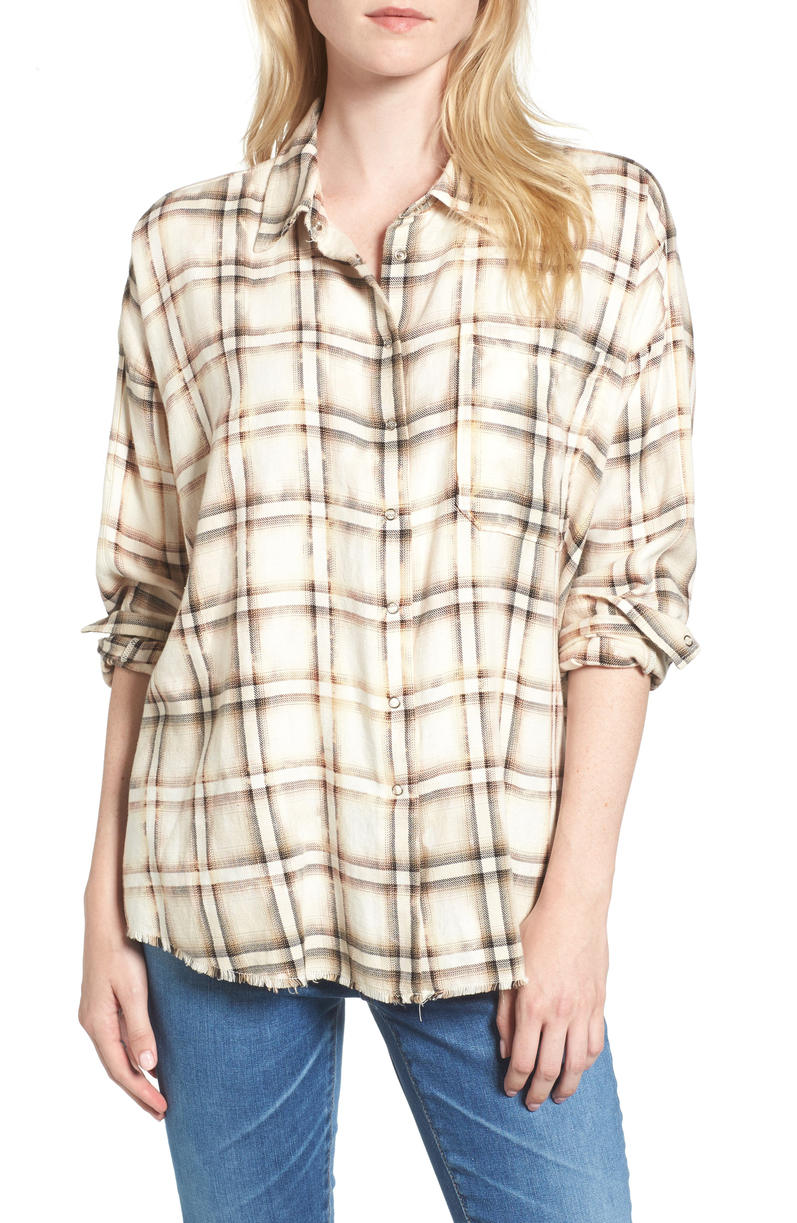 Josie Flannel Shirt,                             Main thumbnail 1, color,                             909