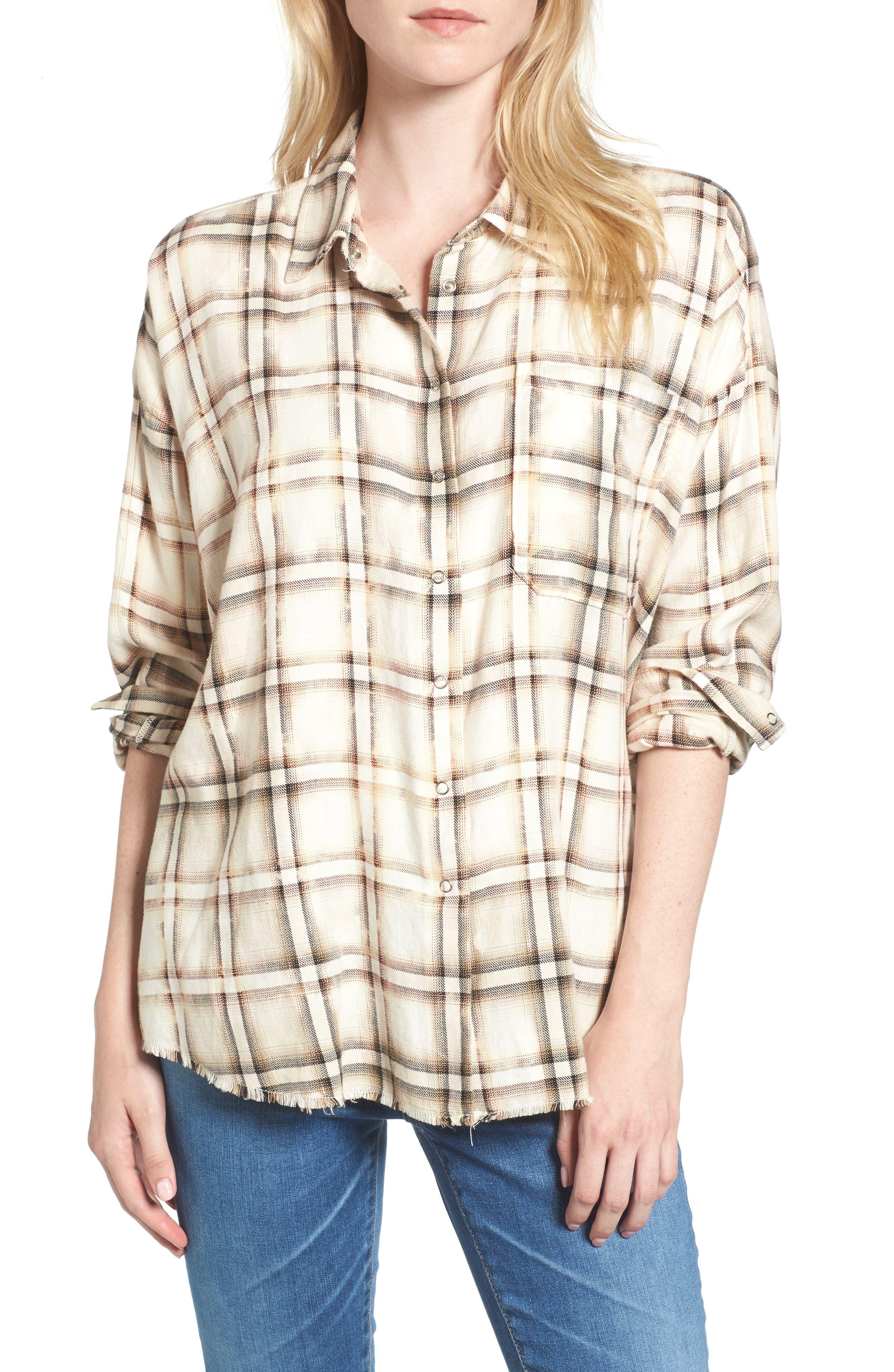 Josie Flannel Shirt,                         Main,                         color, 909
