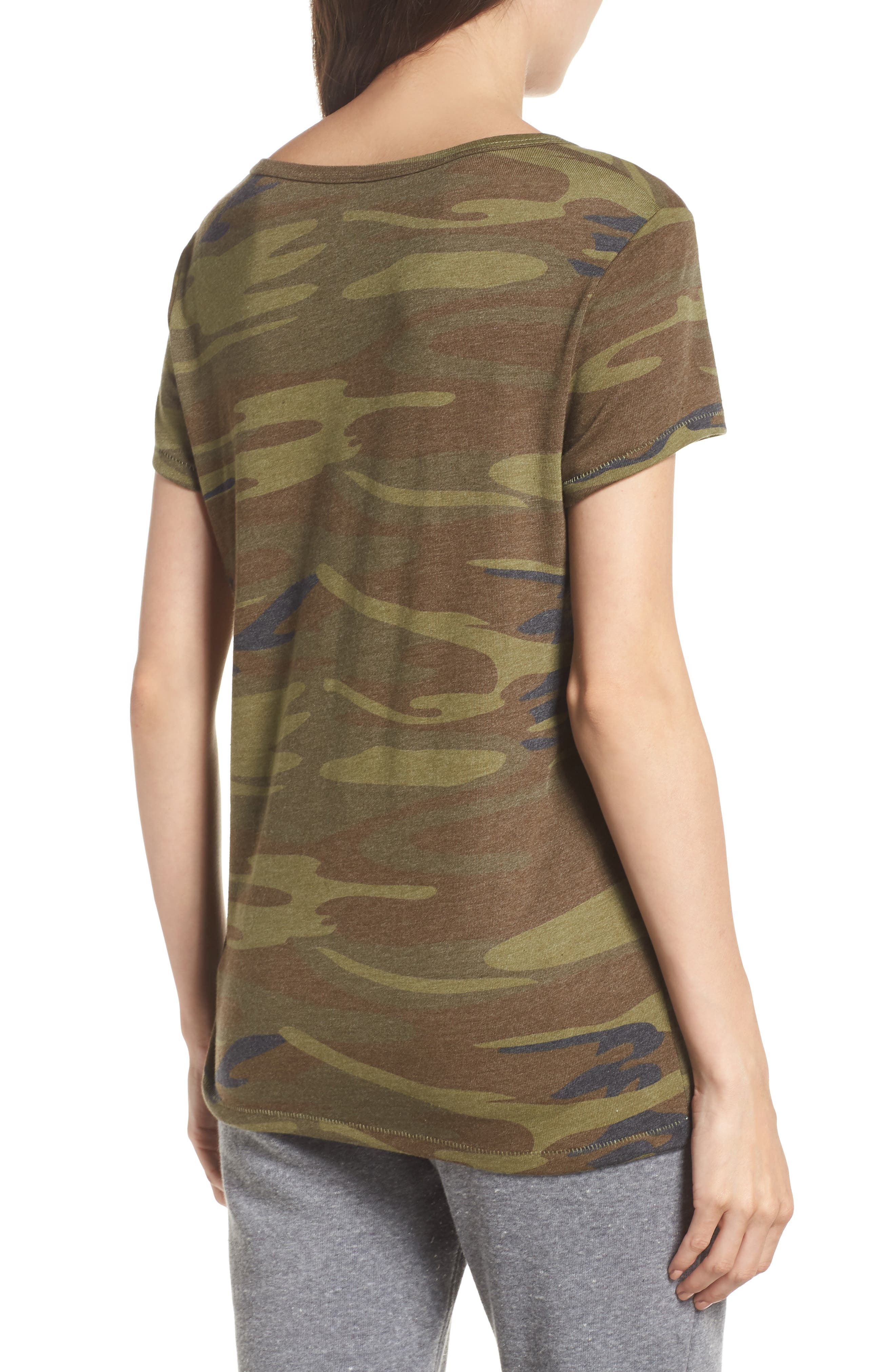 Ideal Print Tee,                             Alternate thumbnail 2, color,                             CAMO