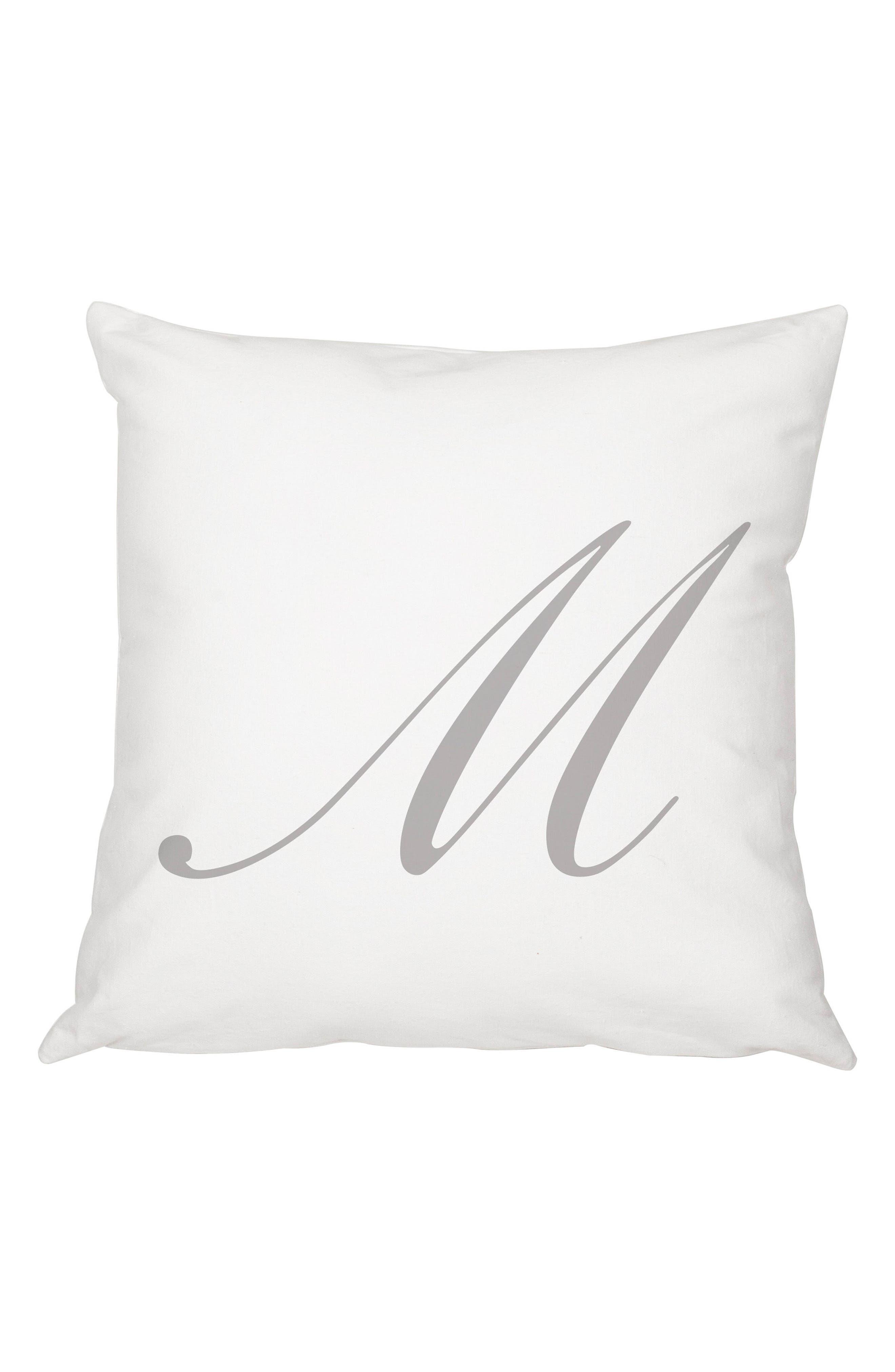Script Monogram Accent Pillow,                             Main thumbnail 13, color,