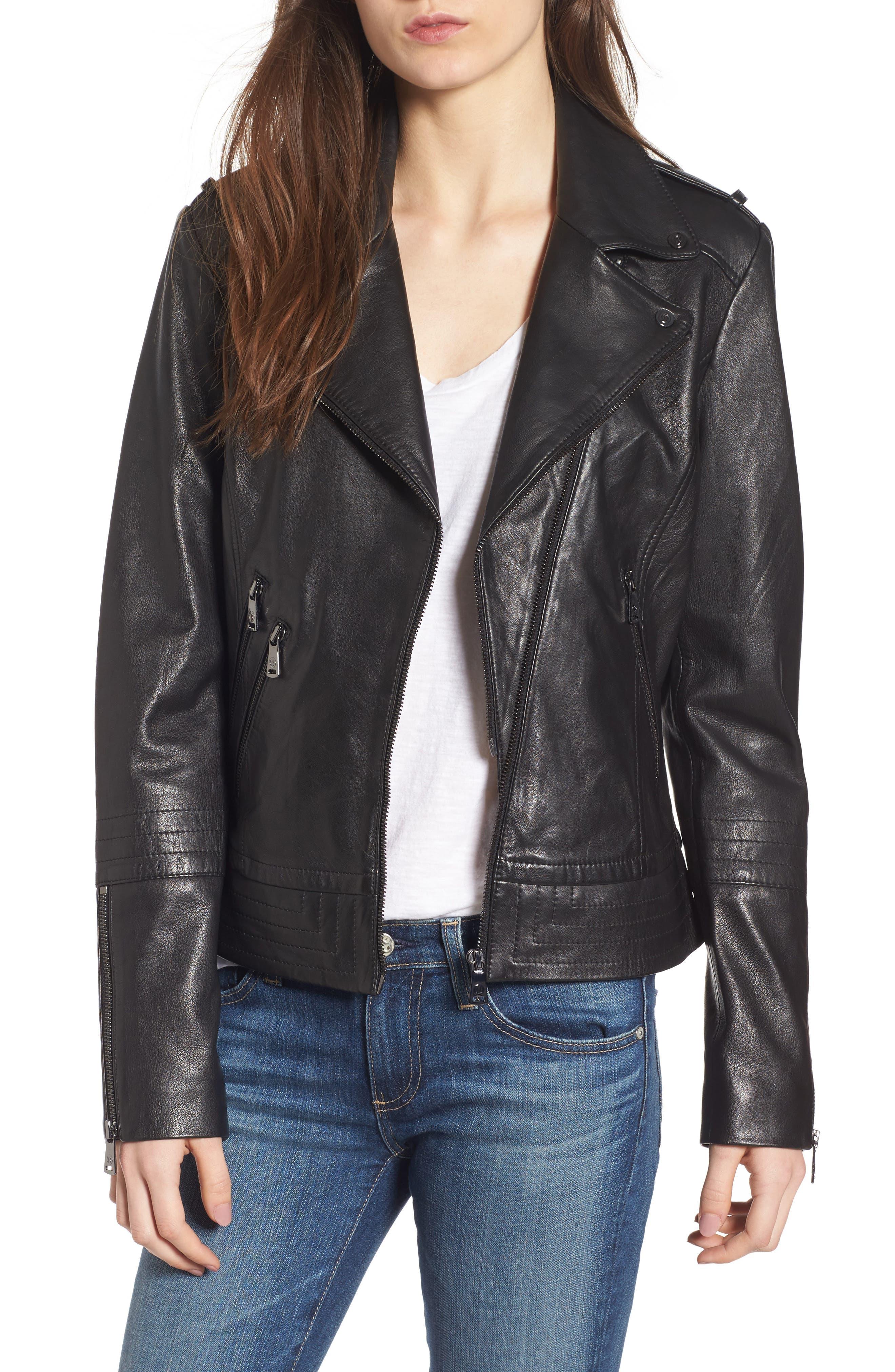 Lirio Moto Jacket,                         Main,                         color, 001