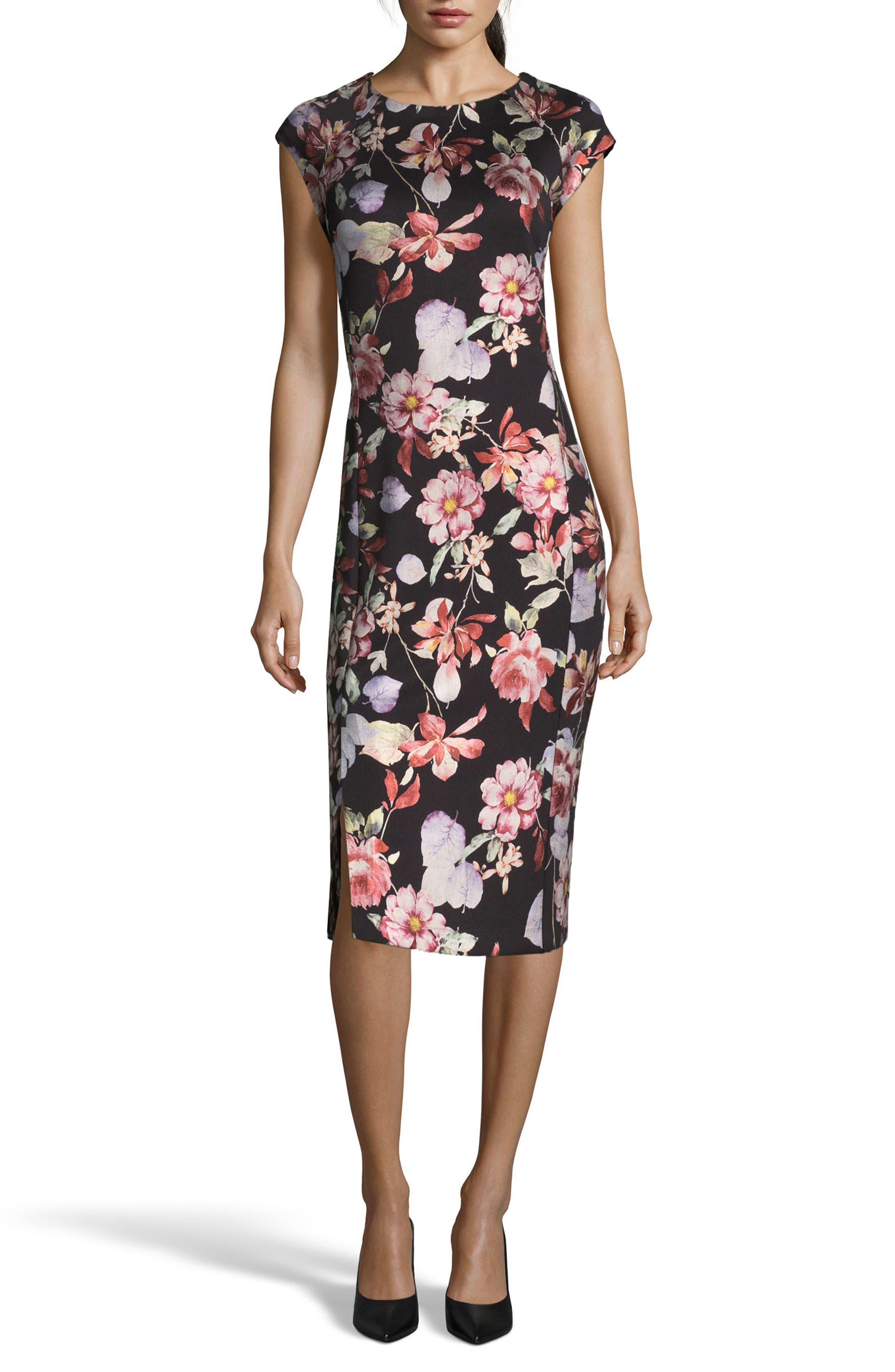 Metallic Sheath Dress,                         Main,                         color, 006