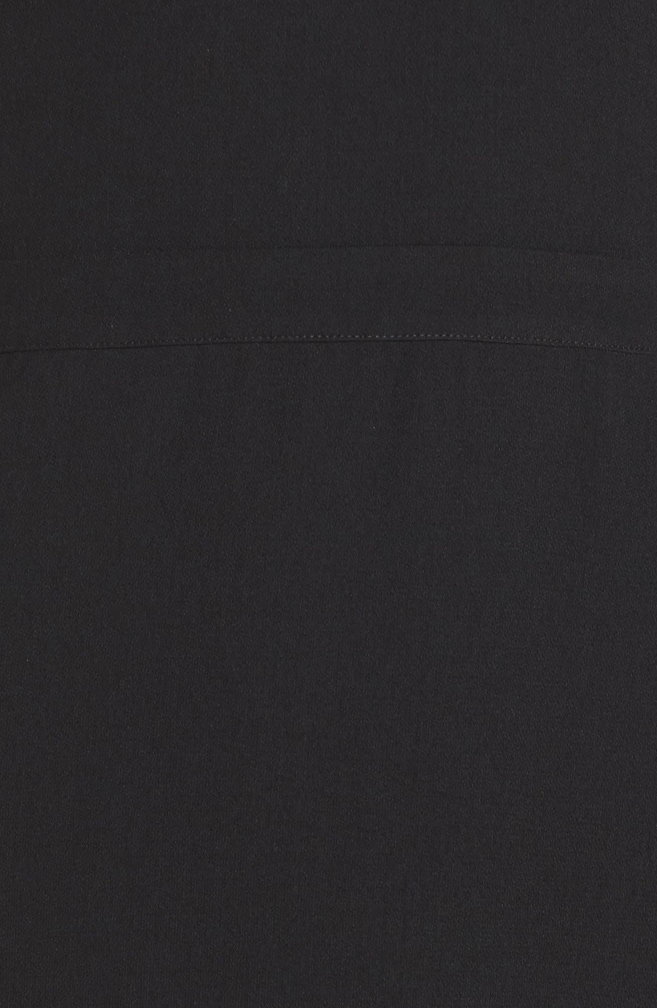 Power Shoulder Sheath Dress,                             Alternate thumbnail 5, color,                             001