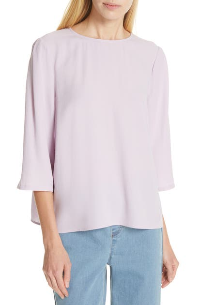 Eileen Fisher Tops SILK GEORGETTE BOX TOP