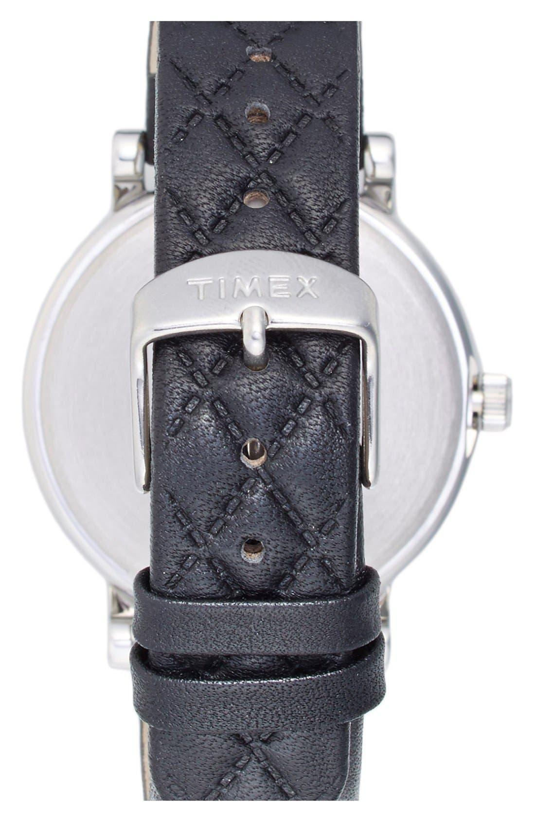 'Originals' Leather Strap Watch, 38mm,                             Alternate thumbnail 3, color,                             001