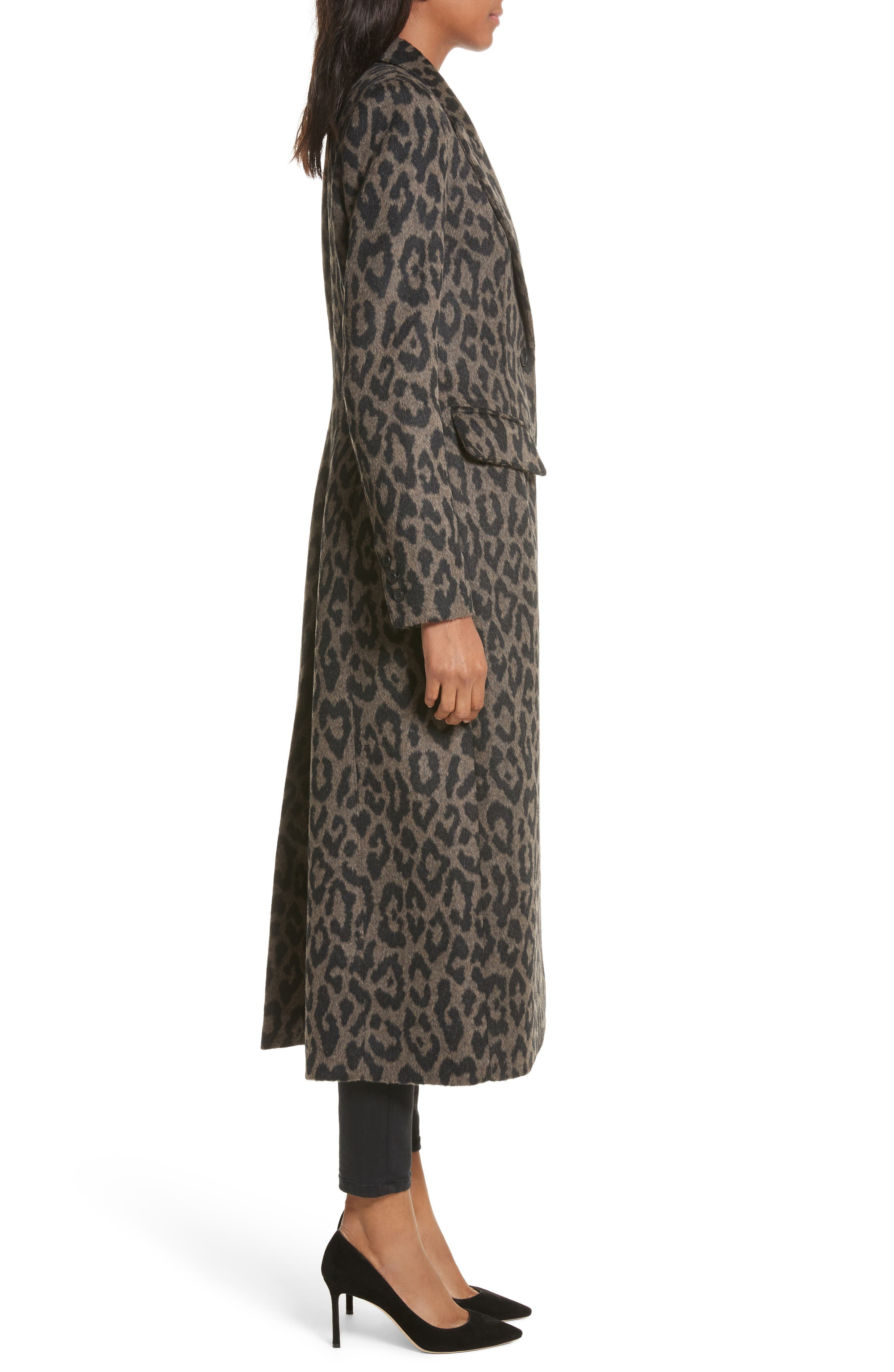 Brando Alpaca & Wool Coat,                             Alternate thumbnail 3, color,                             200