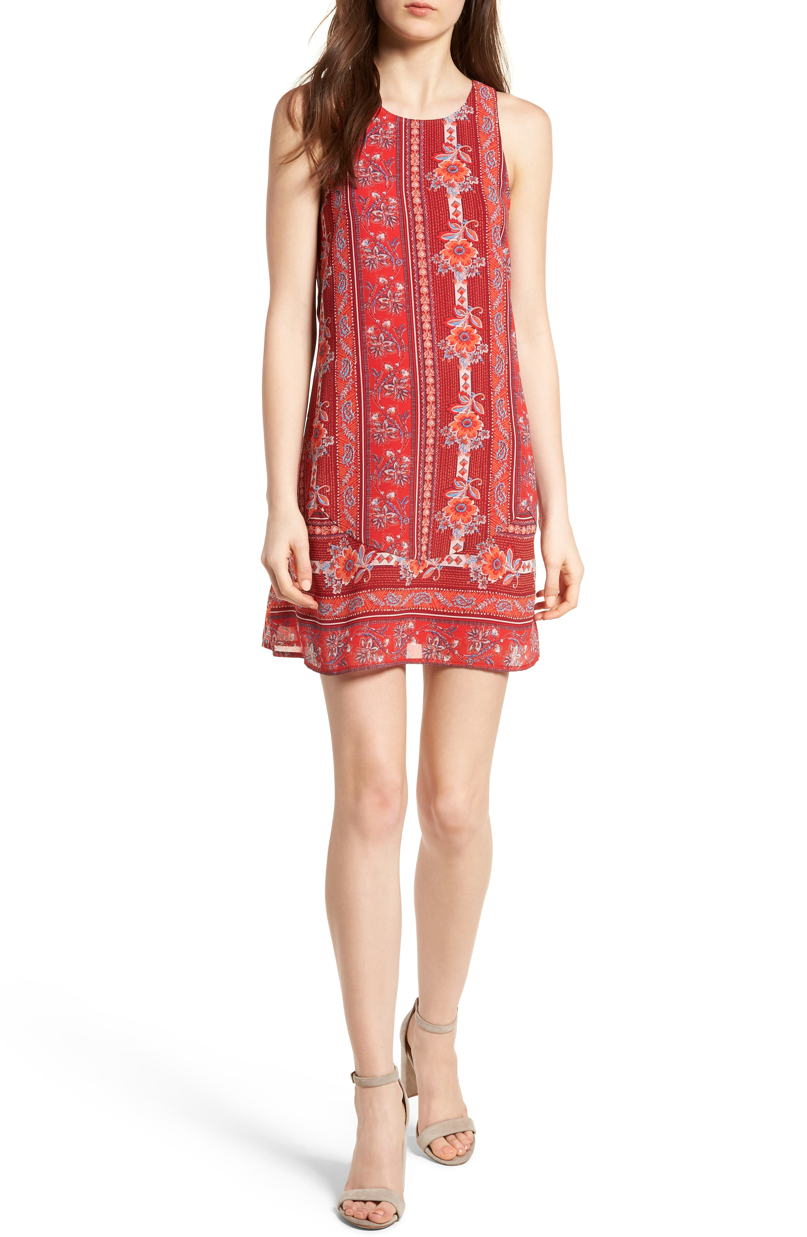 Strappy Back Minidress,                         Main,                         color, 600