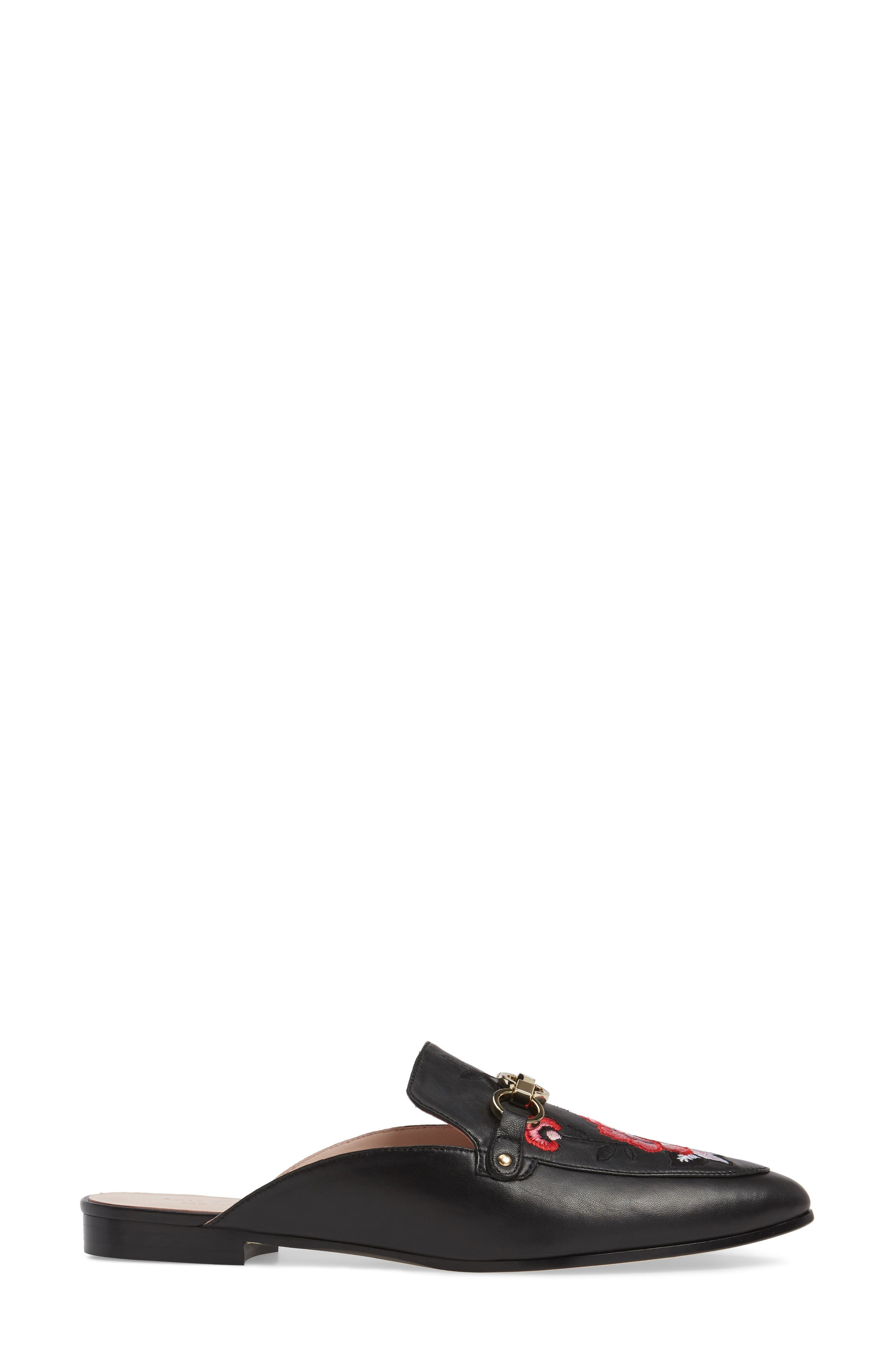 canyon embroidered loafer mule,                             Alternate thumbnail 3, color,                             001