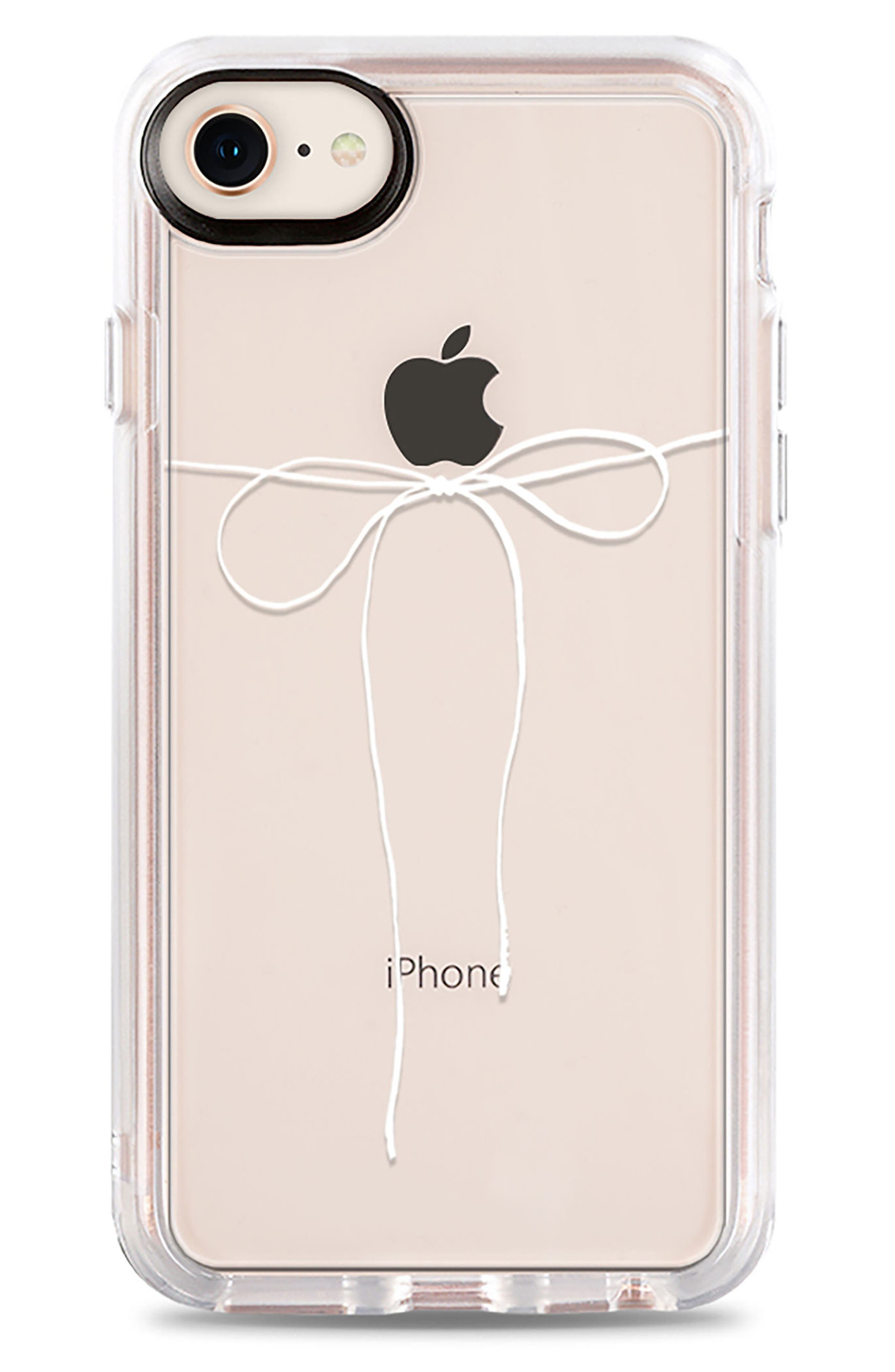Take a Bow iPhone 7/8 & 7/8 Plus Case,                             Main thumbnail 1, color,                             CLEAR WHITE