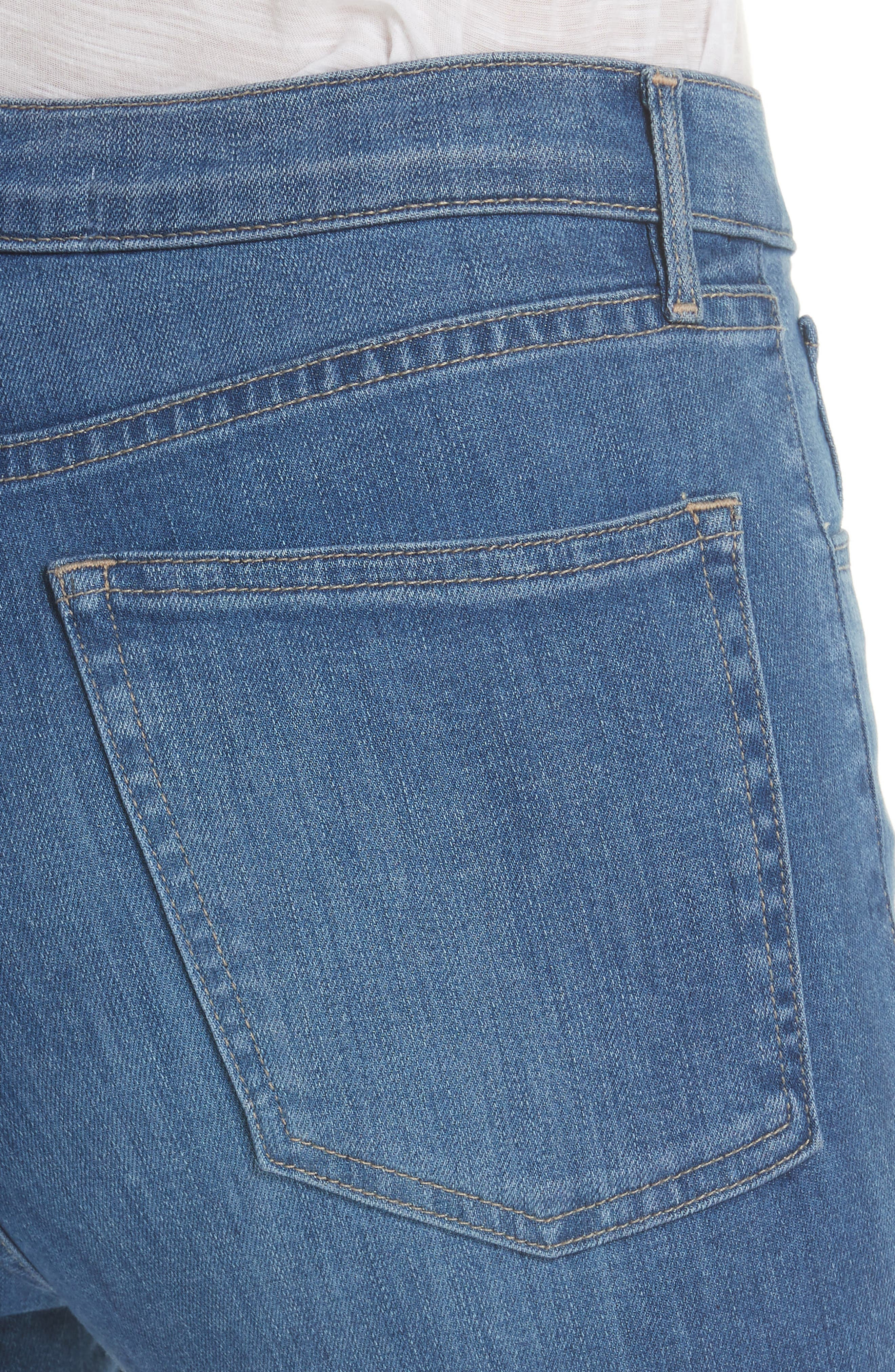 W4 Colette Crop Skinny Jeans,                             Alternate thumbnail 4, color,                             MILLY