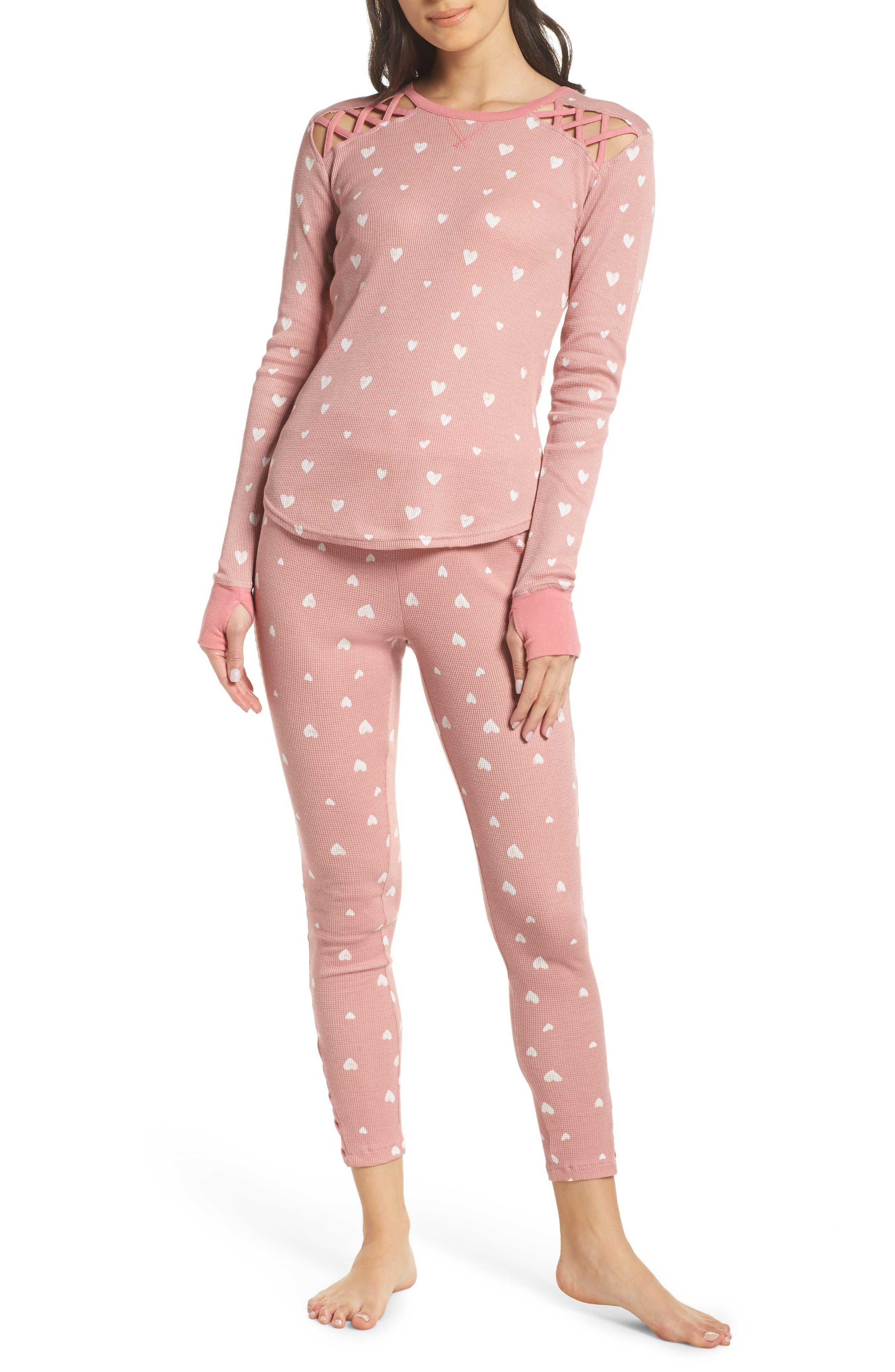 Retrospective Co. Thermal Pajamas, Pink