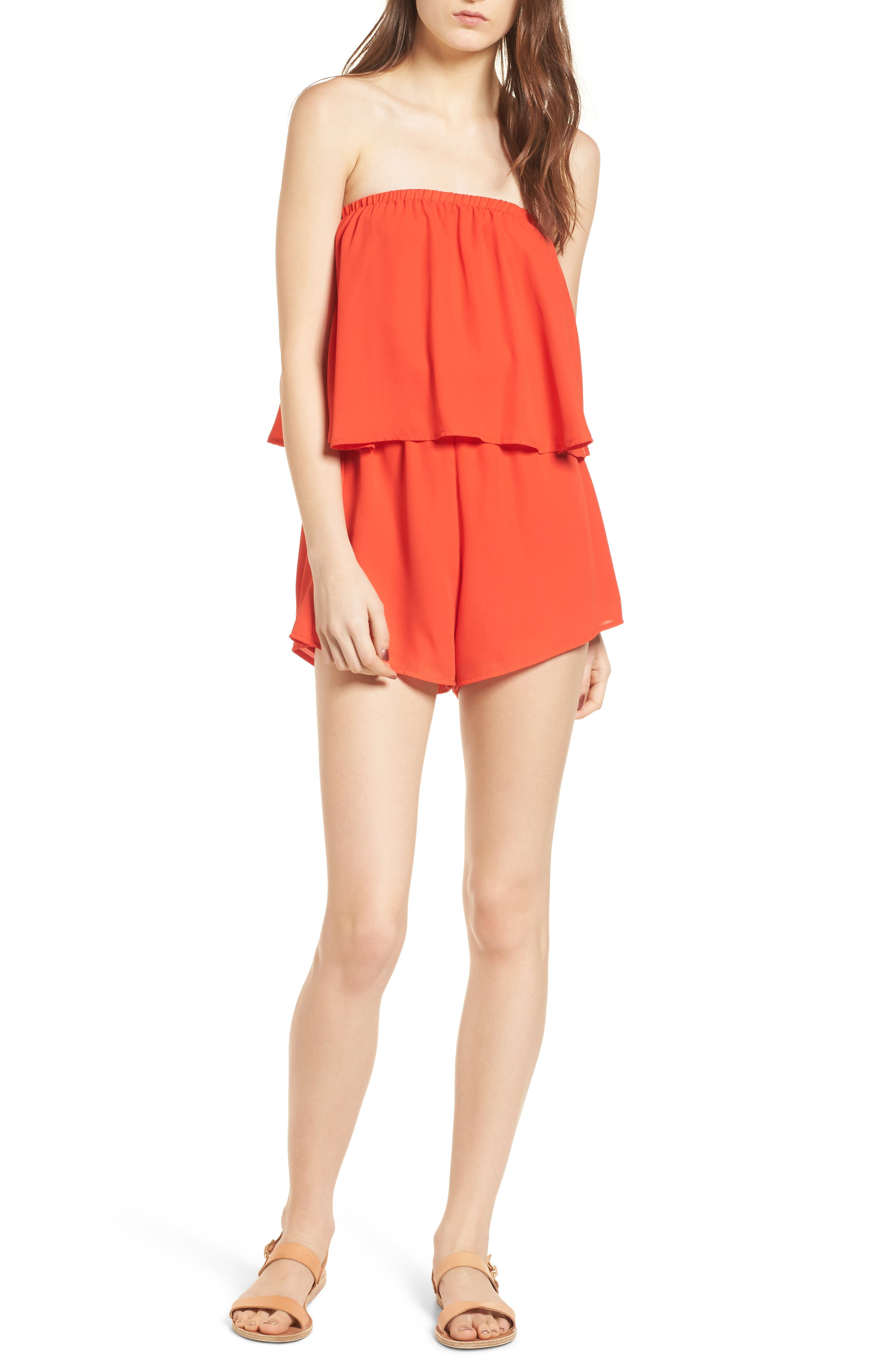 Thelma Strapless Romper,                             Main thumbnail 1, color,                             600