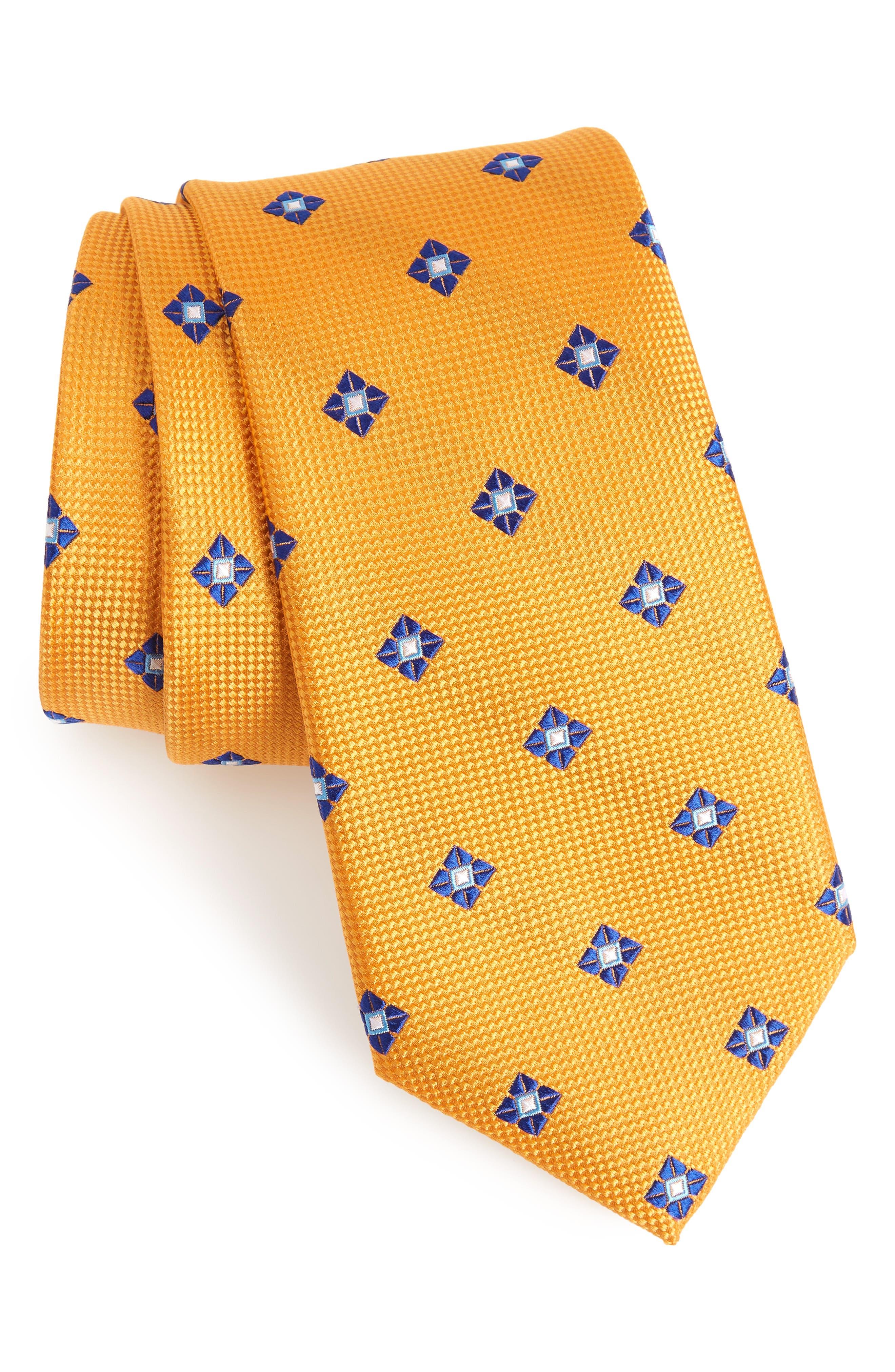Oxford Medallion Silk Tie,                             Main thumbnail 6, color,