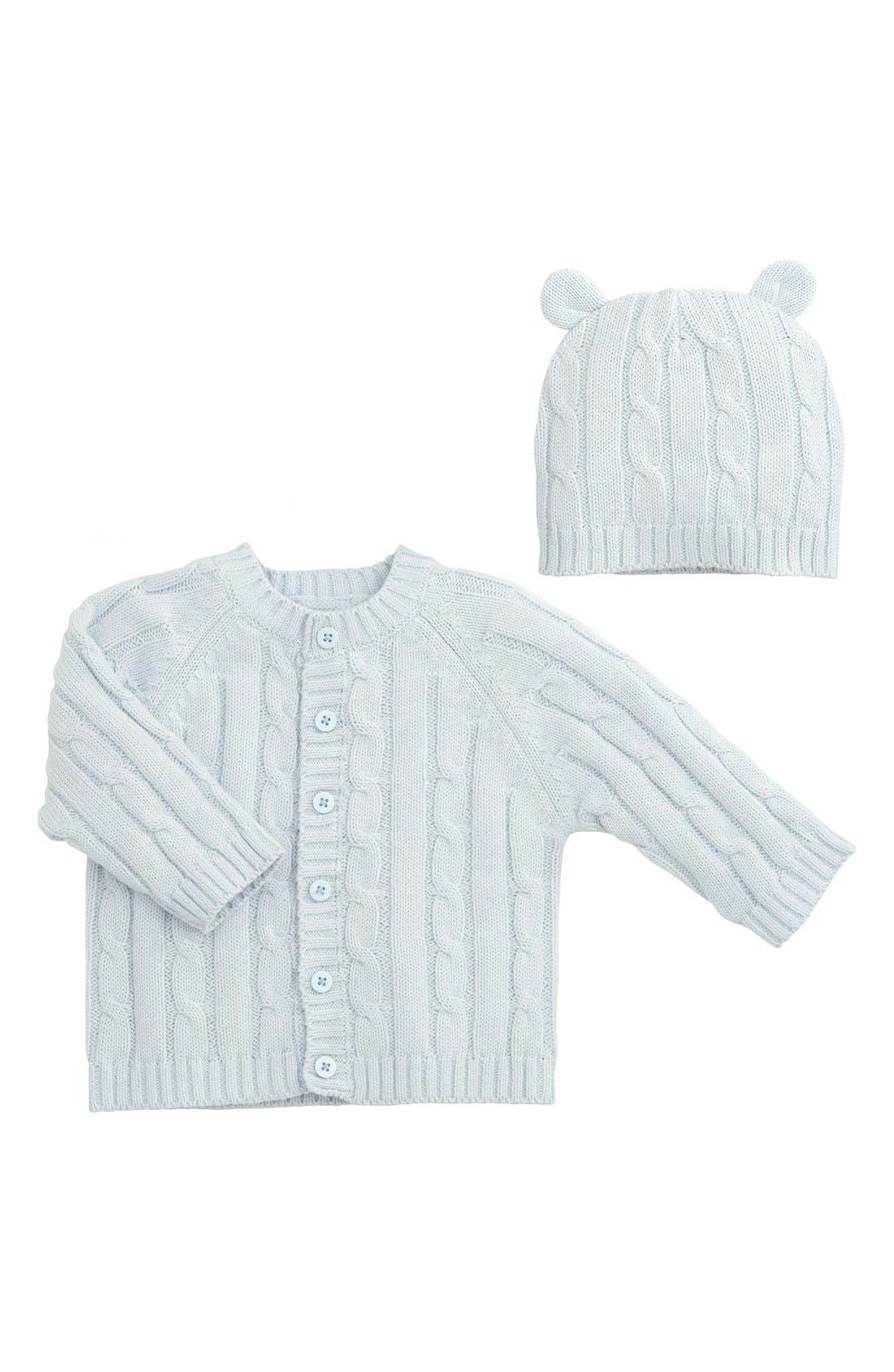 Cable Knit Sweater & Hat Set,                             Main thumbnail 3, color,