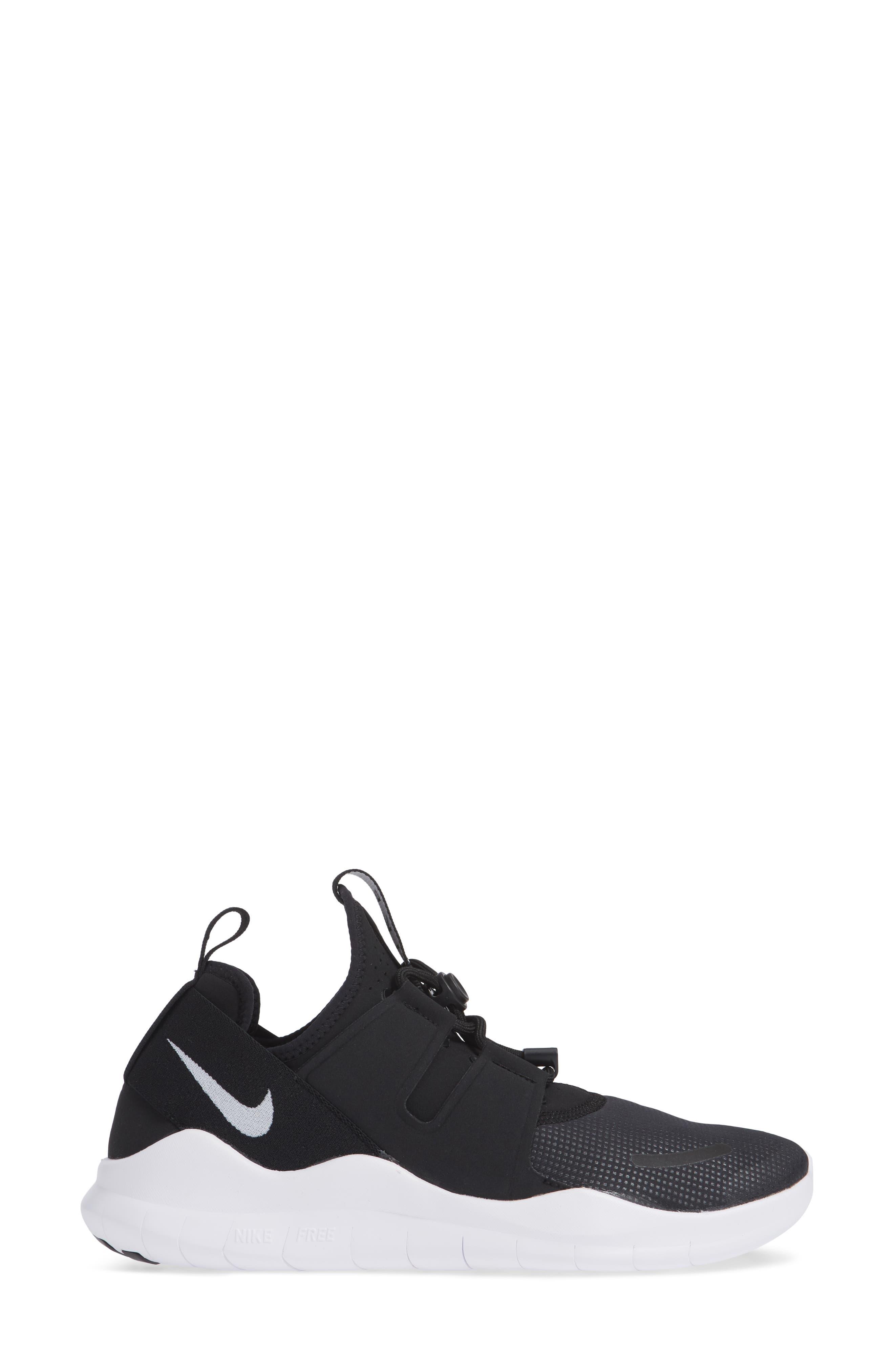 Free RN Commuter 2018 Running Shoe,                             Alternate thumbnail 3, color,                             BLACK/ WHITE
