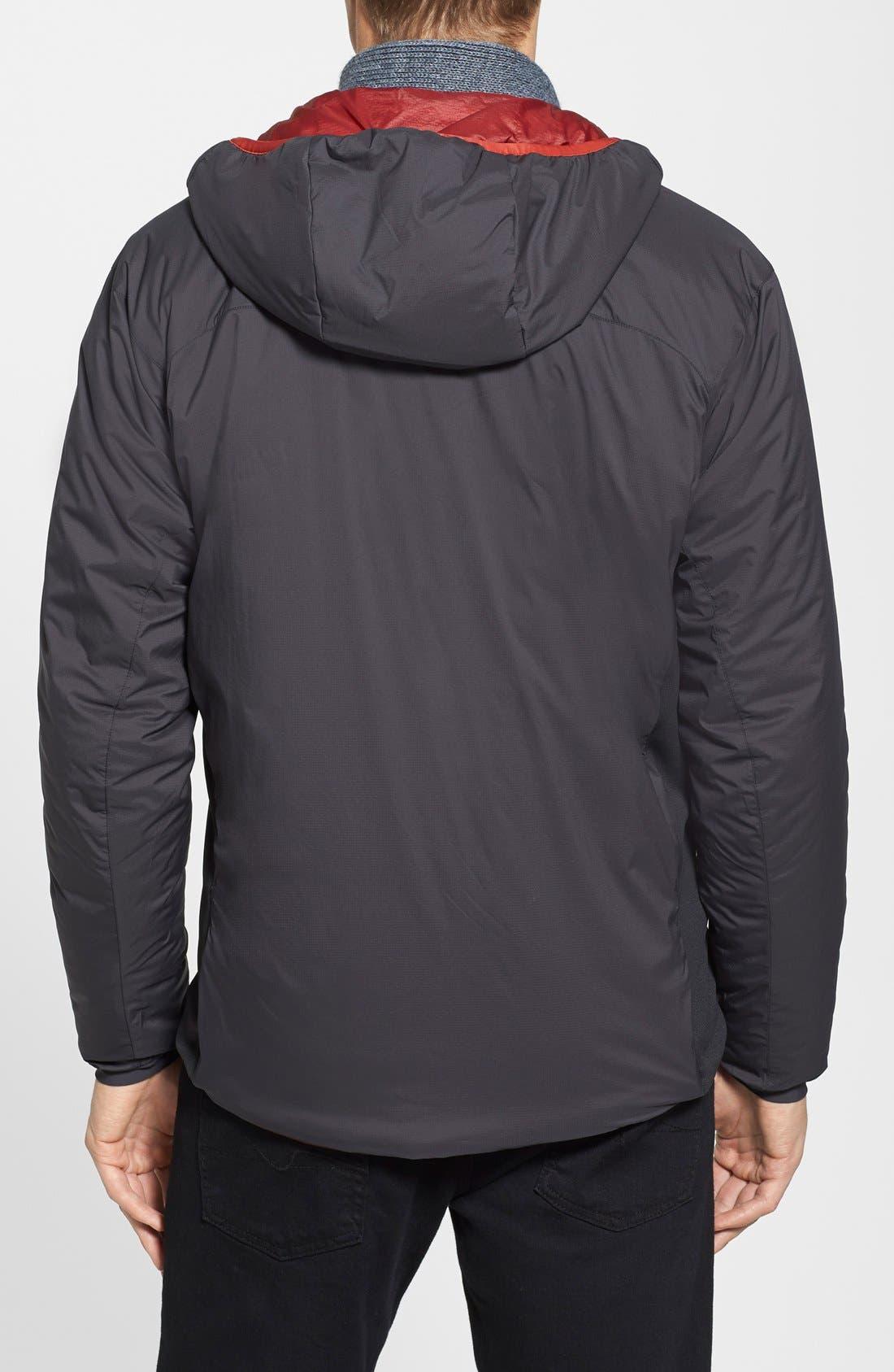 'Atom LT' Trim Fit Wind & Water Resistant Coreloft<sup>™</sup> Hooded Jacket,                             Alternate thumbnail 3, color,                             001
