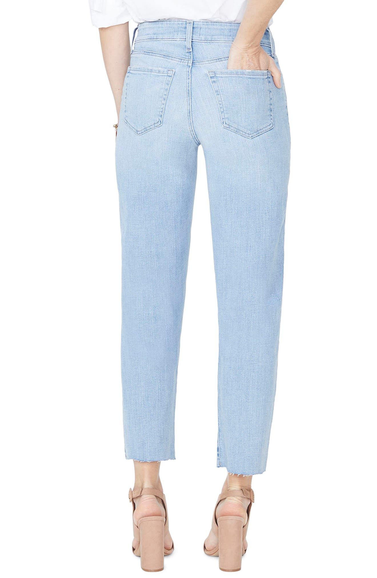 Jenna Straight Leg Raw Hem Ankle Jeans,                             Alternate thumbnail 2, color,                             WANDERLUST