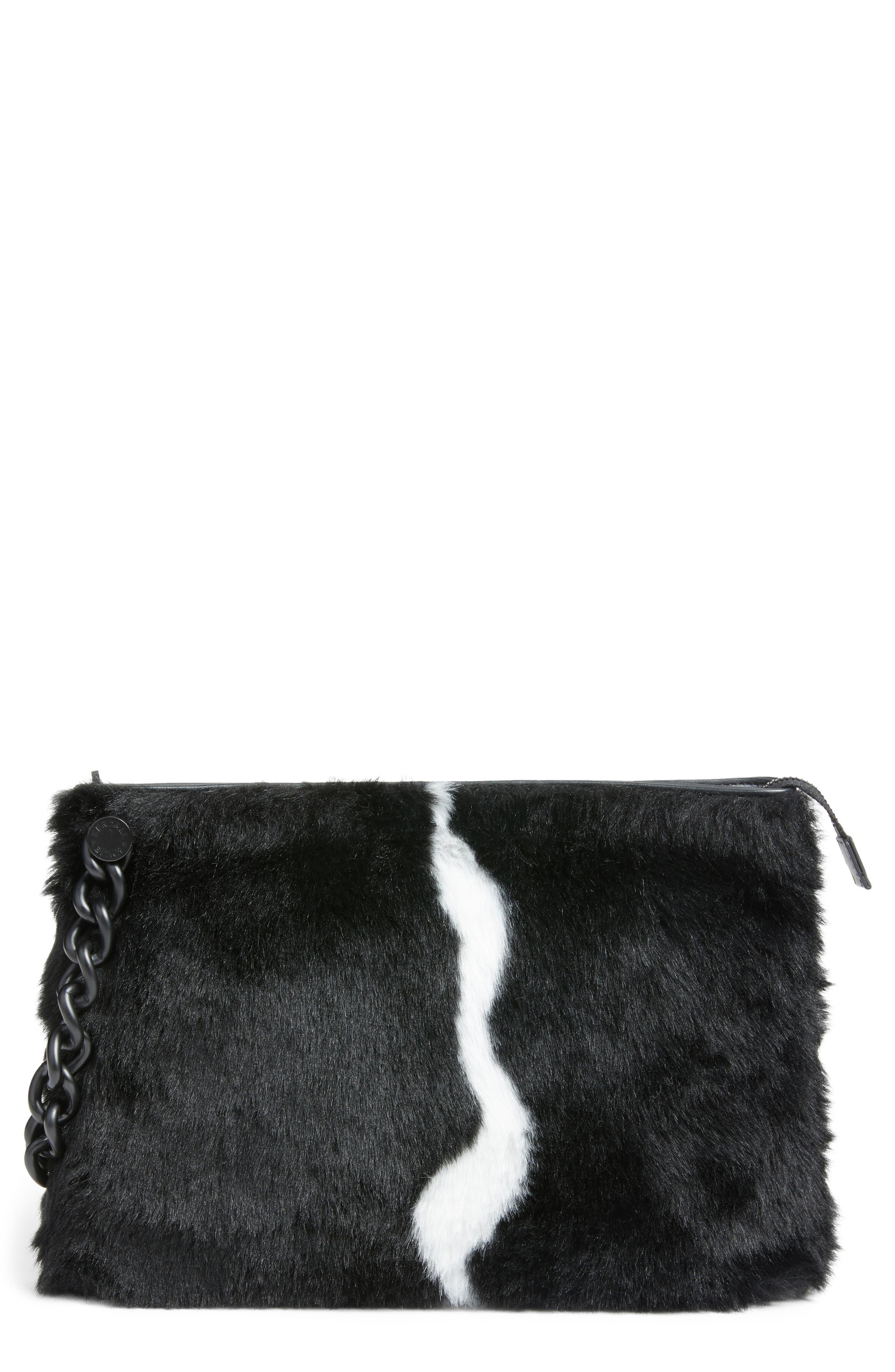 Corey Faux Fur Clutch,                         Main,                         color,