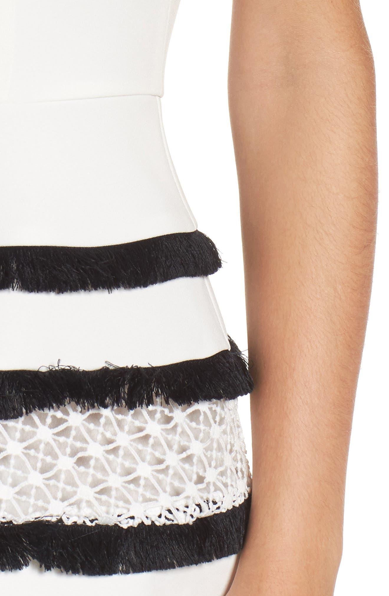 Stripe Fit & Flare Dress,                             Alternate thumbnail 8, color,