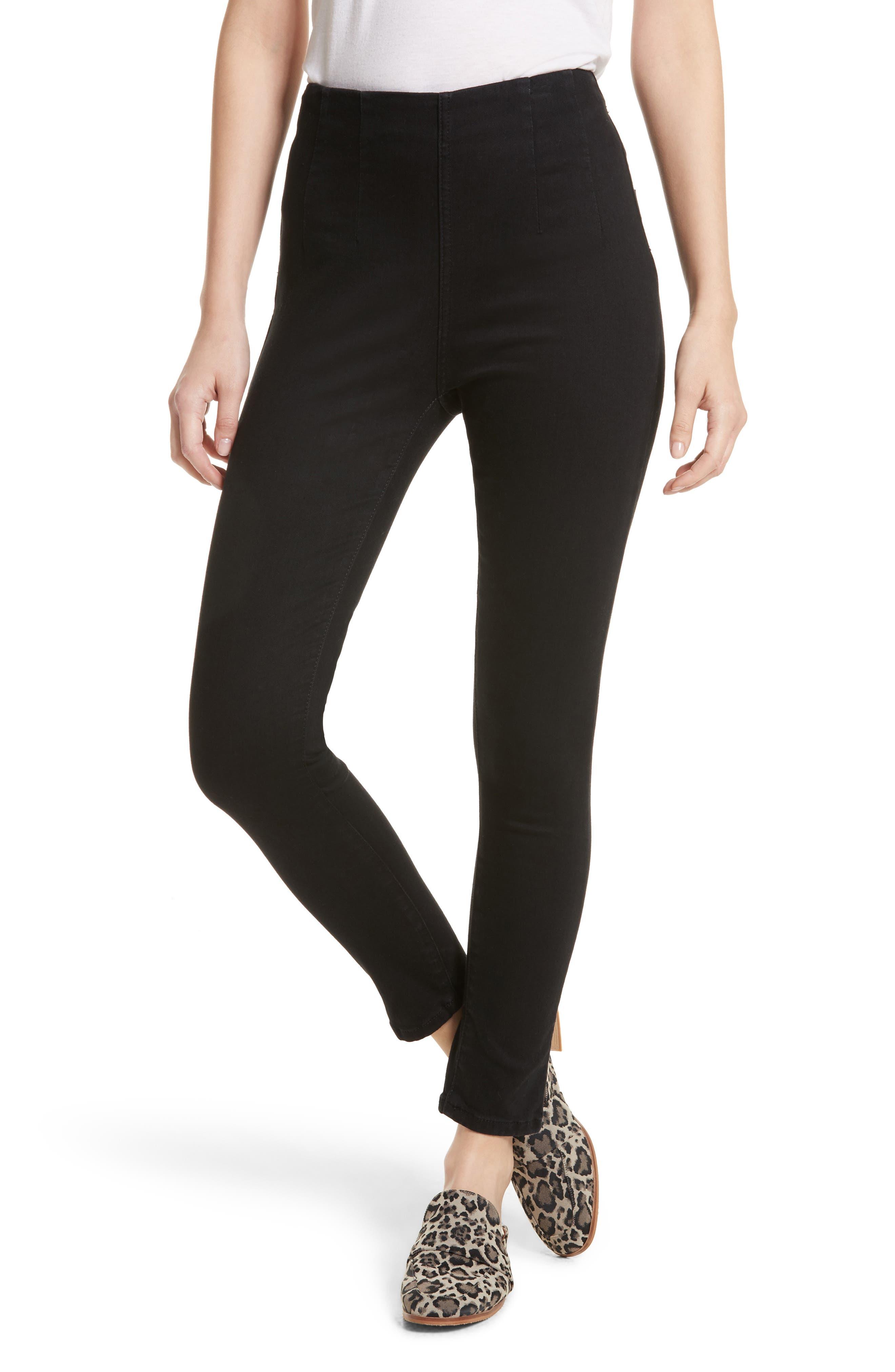 High Waist Ankle Skinny Pants,                         Main,                         color, 001