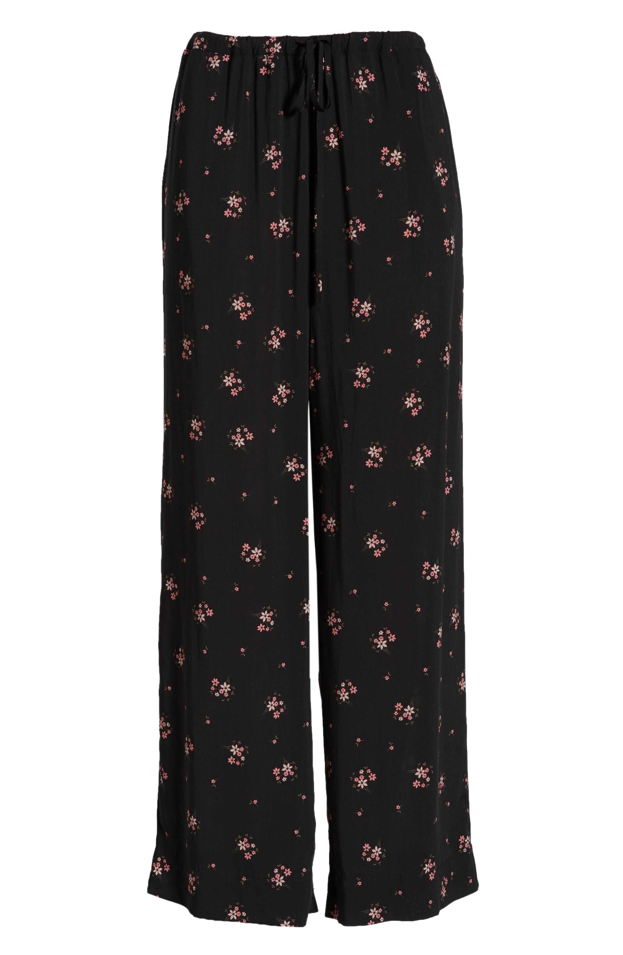 Floral Printed Pants,                             Alternate thumbnail 6, color,                             CAMELLIA
