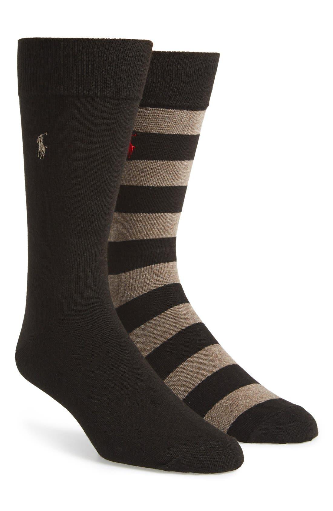Cotton Blend Socks,                             Main thumbnail 3, color,