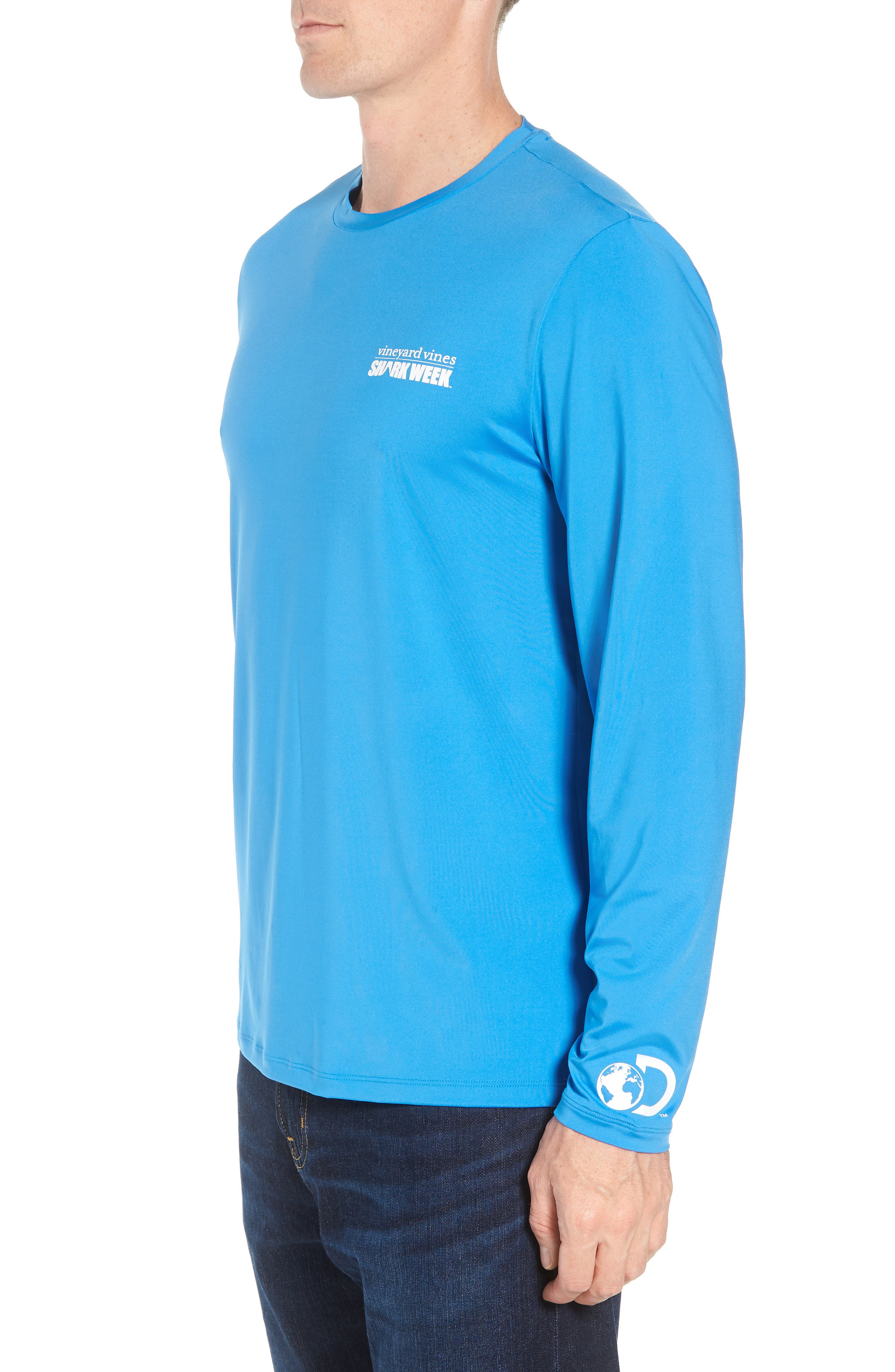 x Shark Week<sup>™</sup> Logo Long Sleeve T-Shirt,                             Alternate thumbnail 3, color,