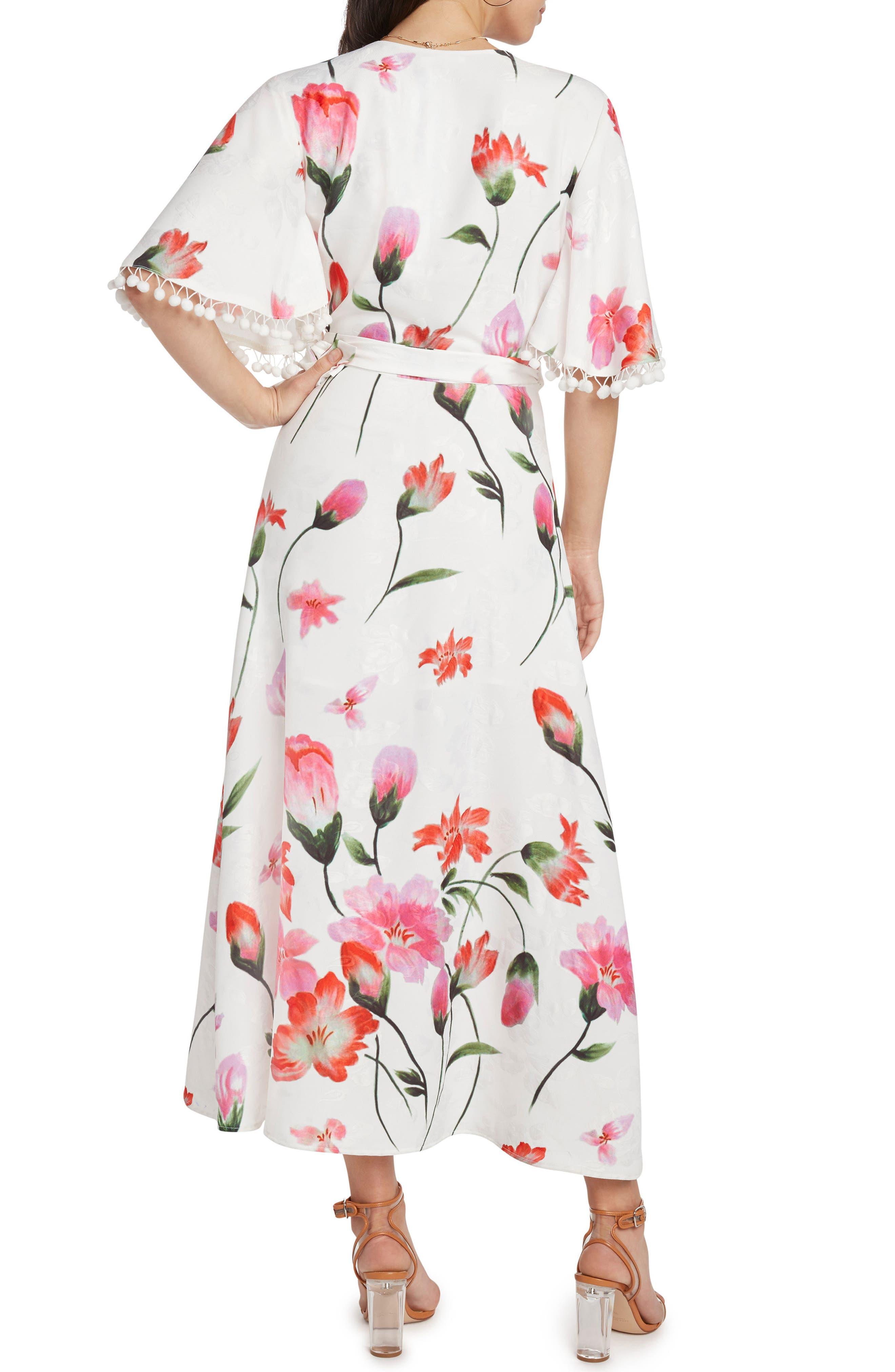Print Wrap Maxi Dress,                             Alternate thumbnail 2, color,                             106