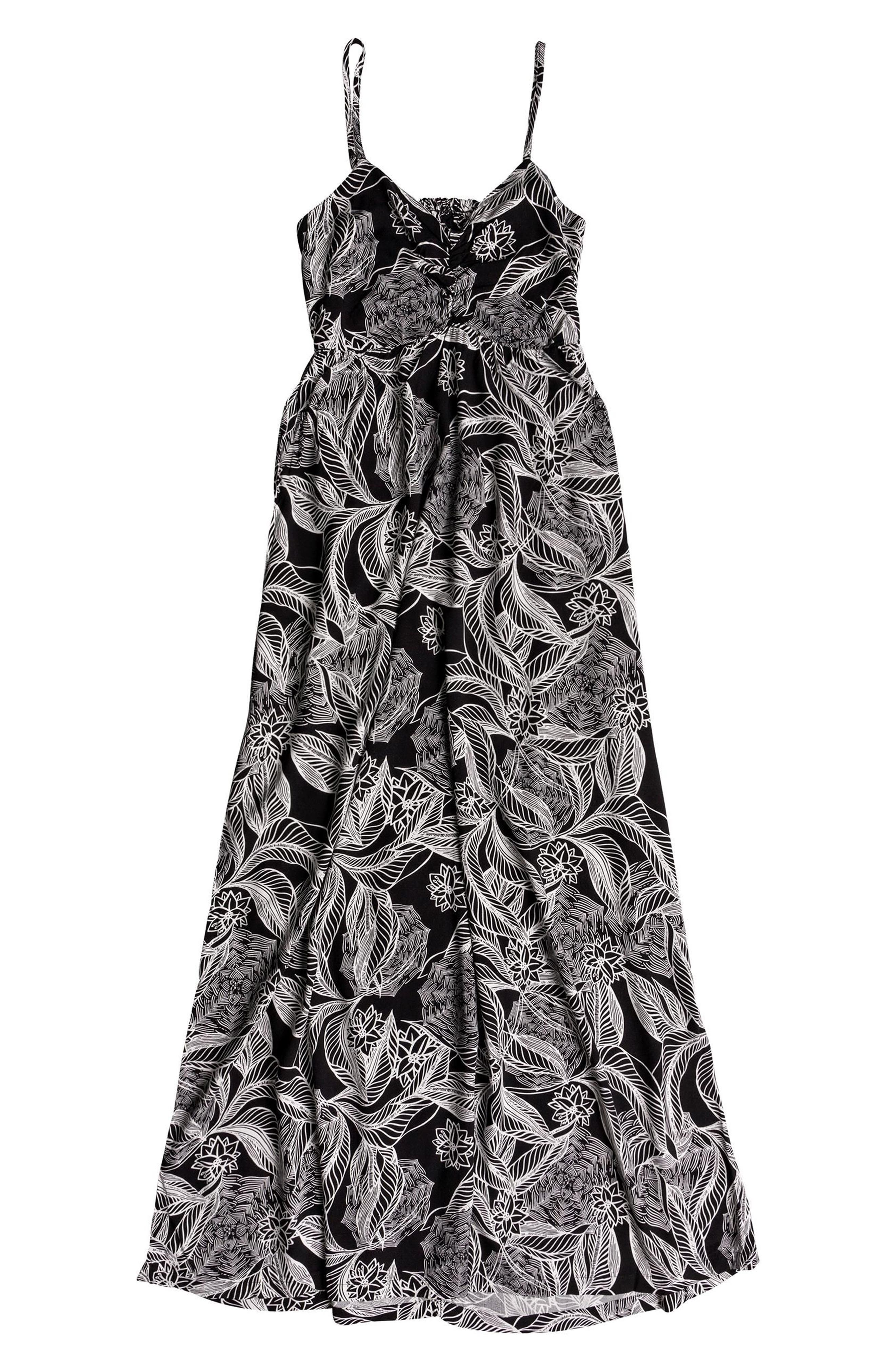 Brilliant Stars Print Maxi Dress,                             Alternate thumbnail 3, color,                             002