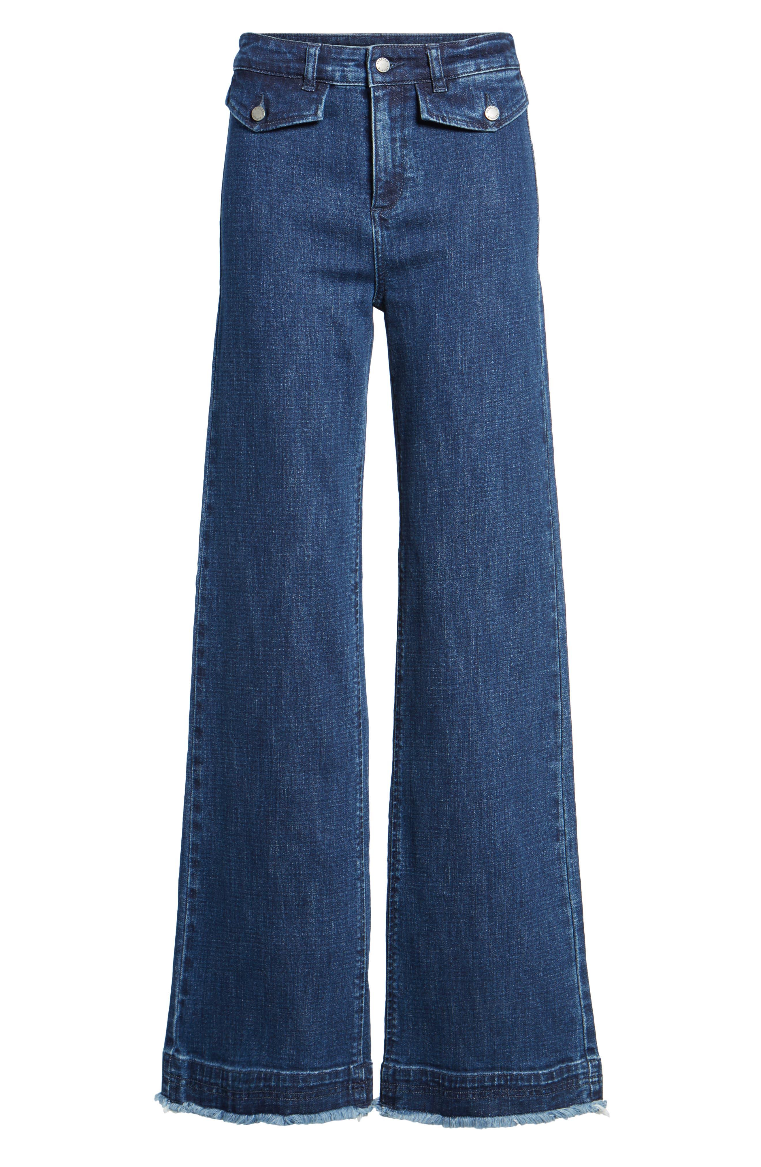 Elwood Wide Leg Jeans,                             Alternate thumbnail 6, color,                             INDIGO