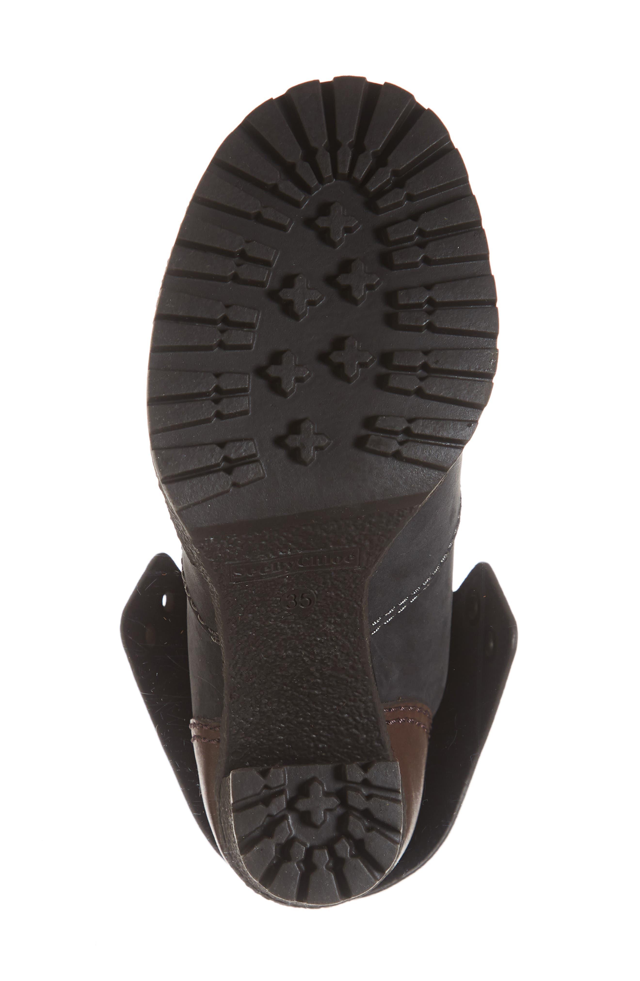 Eileen Platform Boot,                             Alternate thumbnail 6, color,                             BLACK