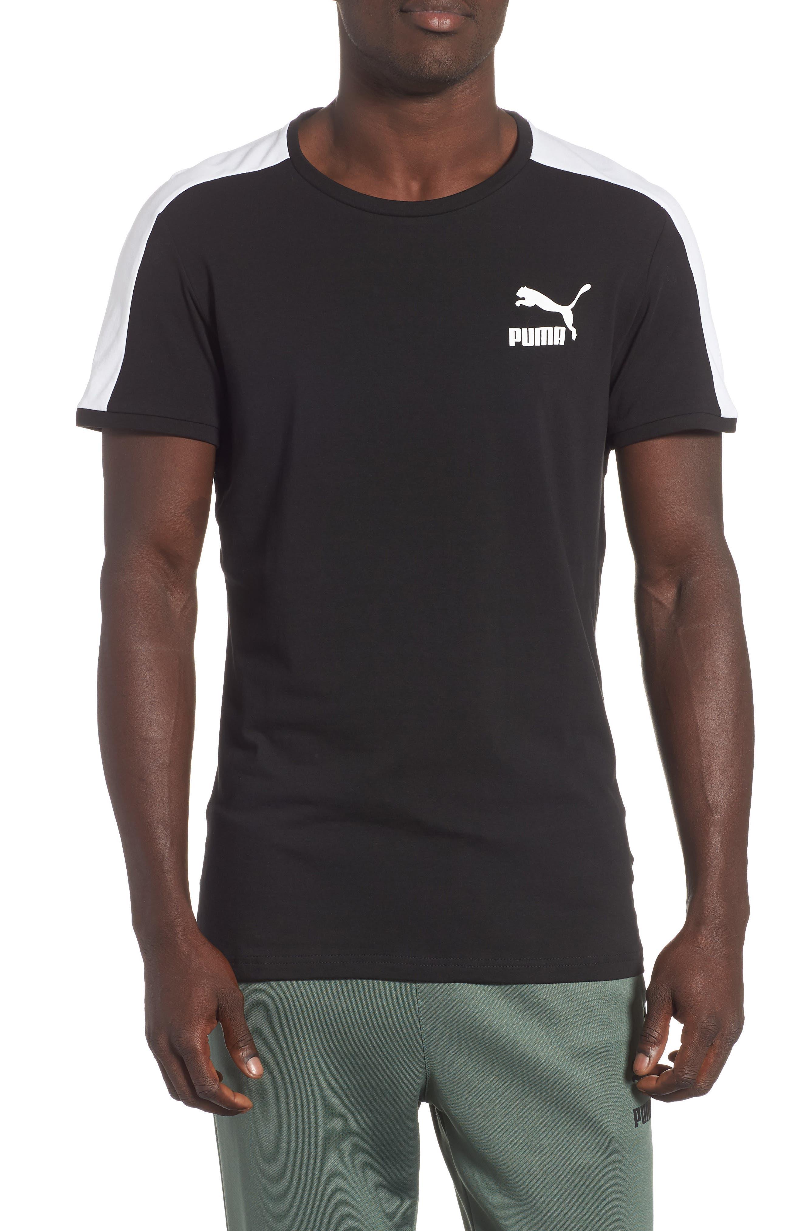 Slim fit Classics T7 T-Shirt,                         Main,                         color, BLACK