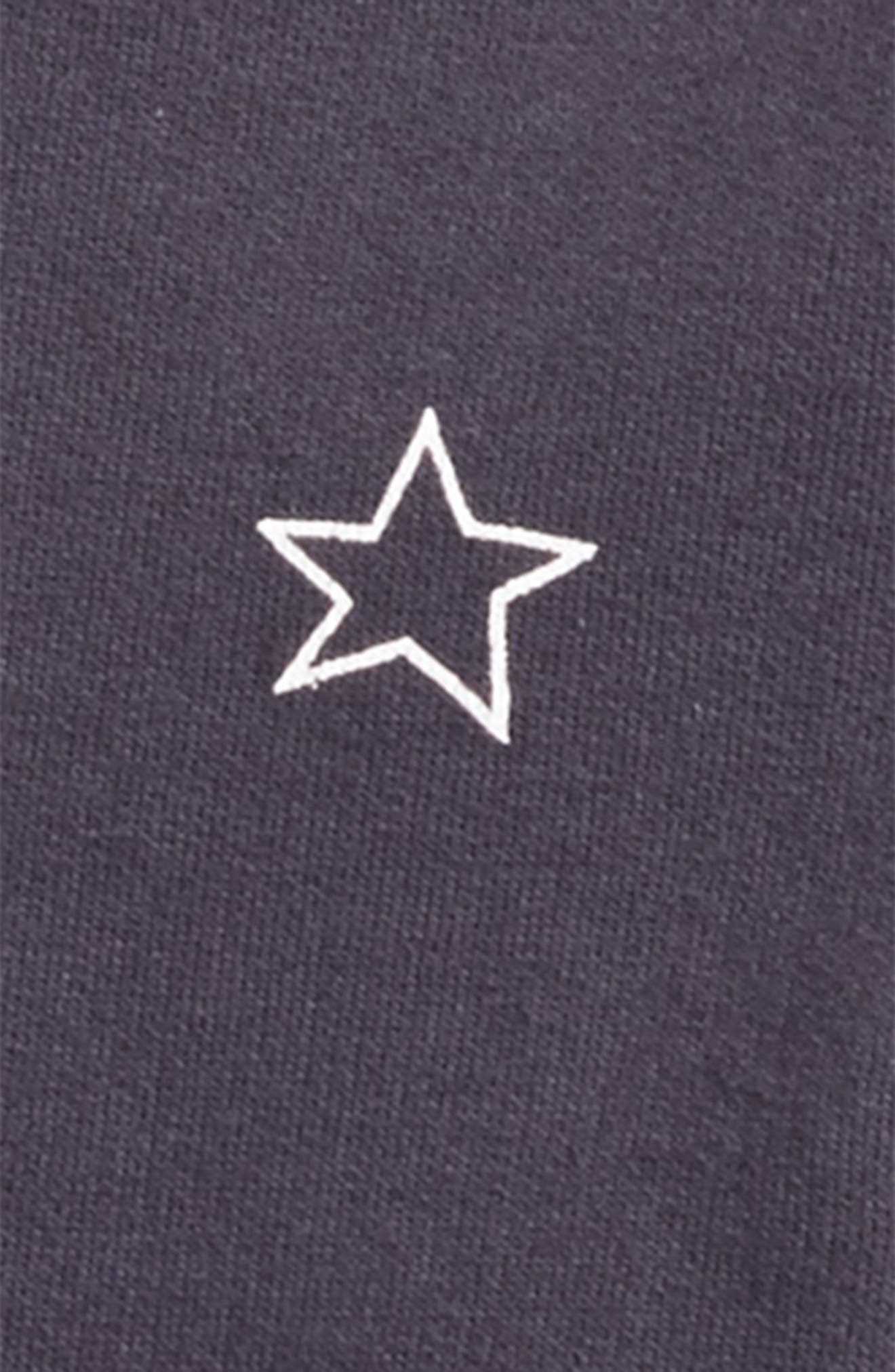 Star Print Baseball Jacket,                             Alternate thumbnail 2, color,                             400