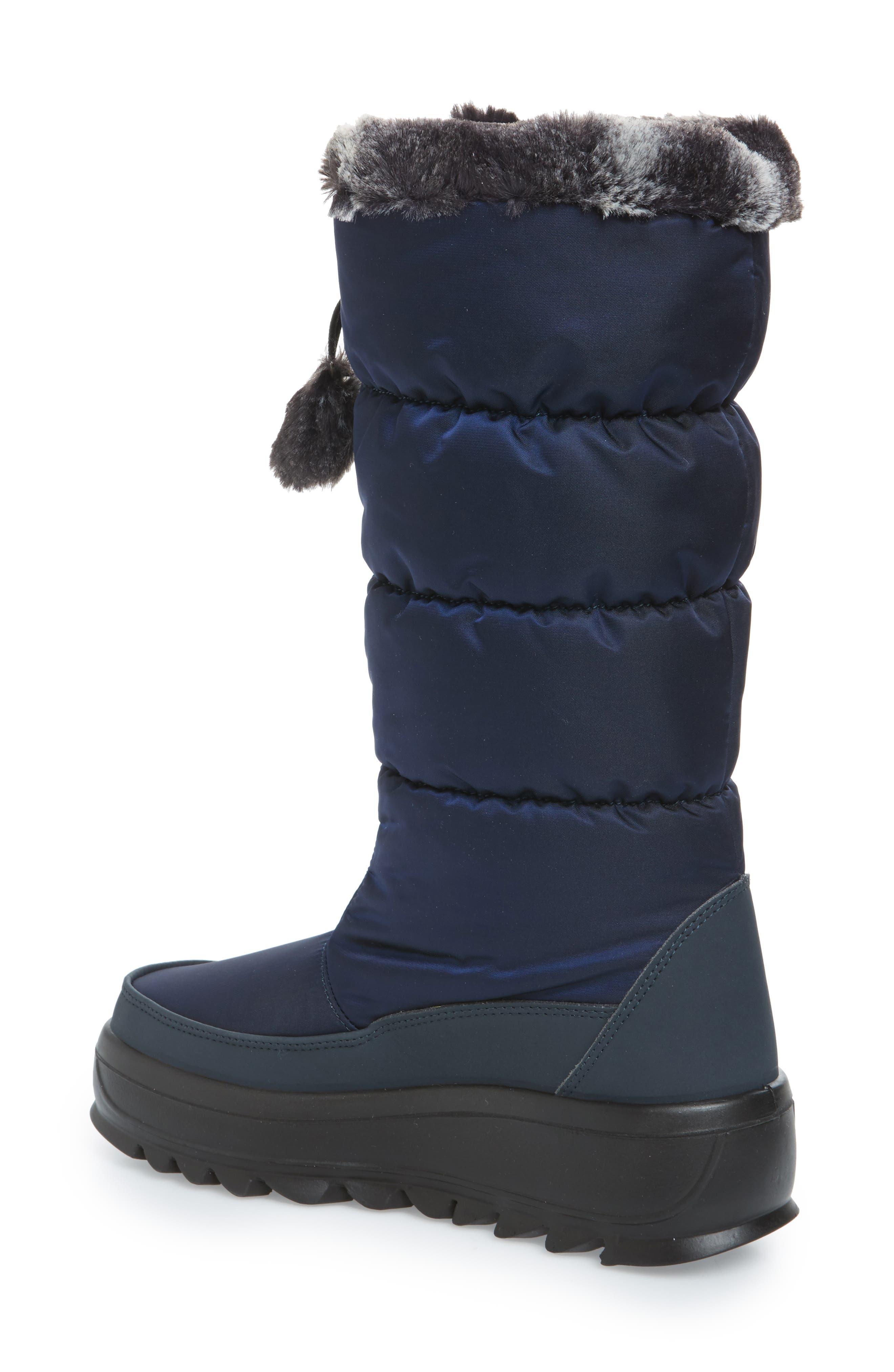 Toboggan 2 Faux Fur Trim Insulated Waterproof Boot,                             Alternate thumbnail 2, color,                             NAVY FABRIC