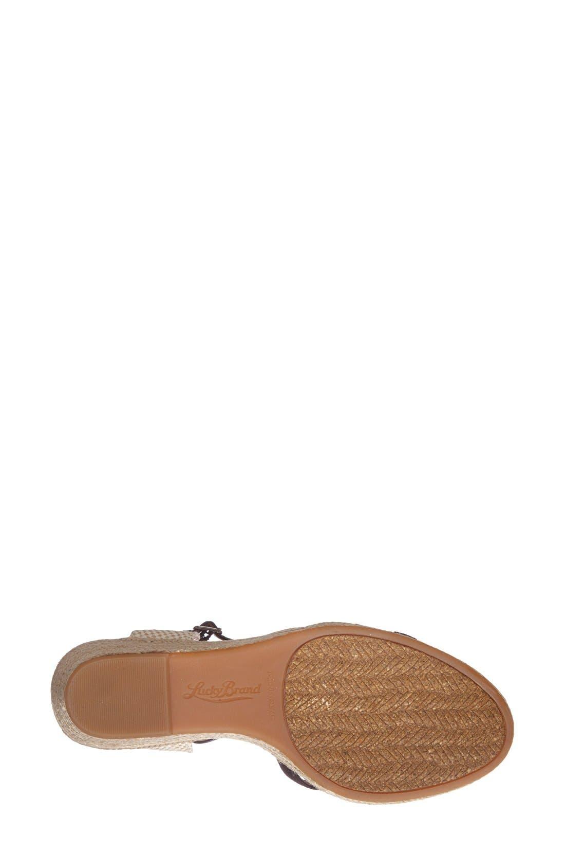 'Kalessie' Espadrille Wedge Sandal,                             Alternate thumbnail 4, color,                             001