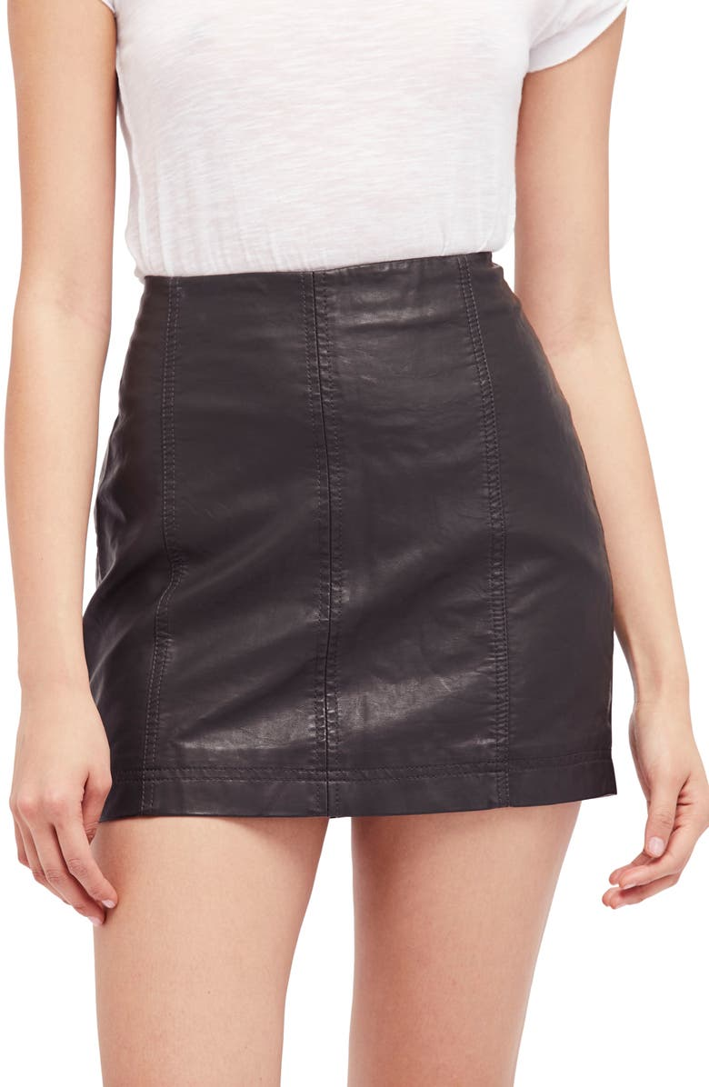 2ad52c2c04 Free People Modern Femme Faux Leather Miniskirt