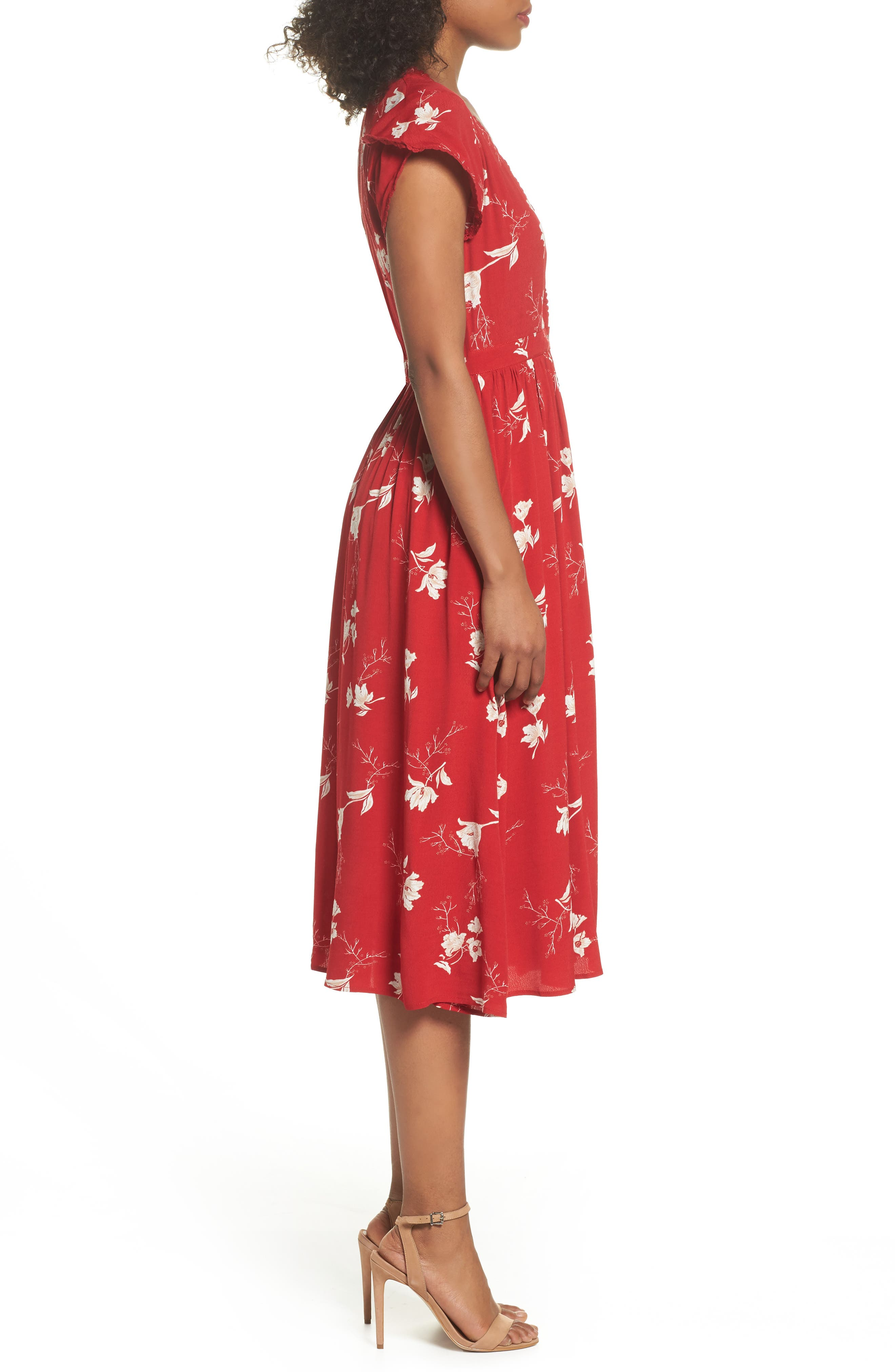 Domingo Midi Dress,                             Alternate thumbnail 3, color,                             617