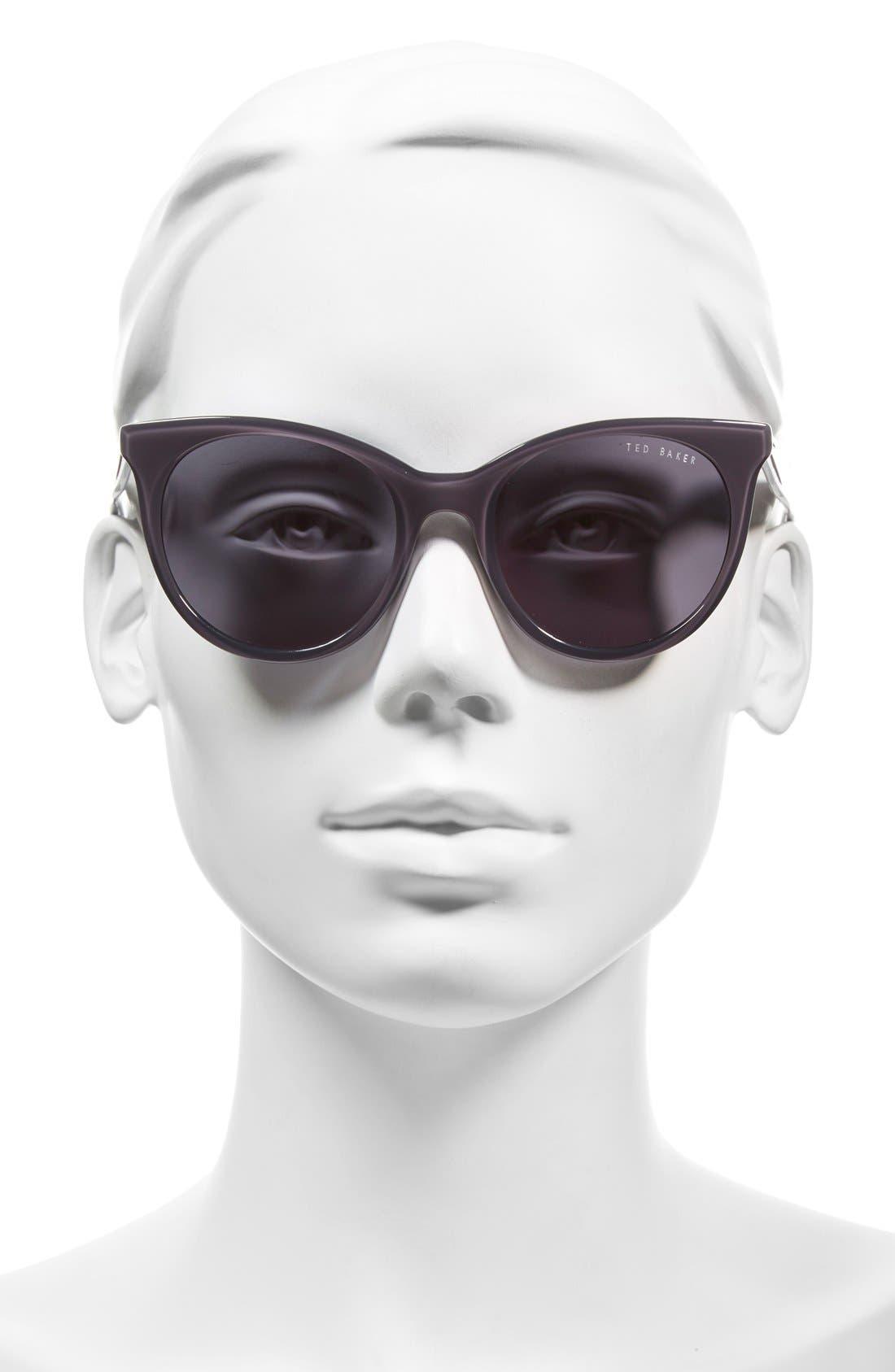 51mm Cat Eye Sunglasses,                             Alternate thumbnail 2, color,                             020