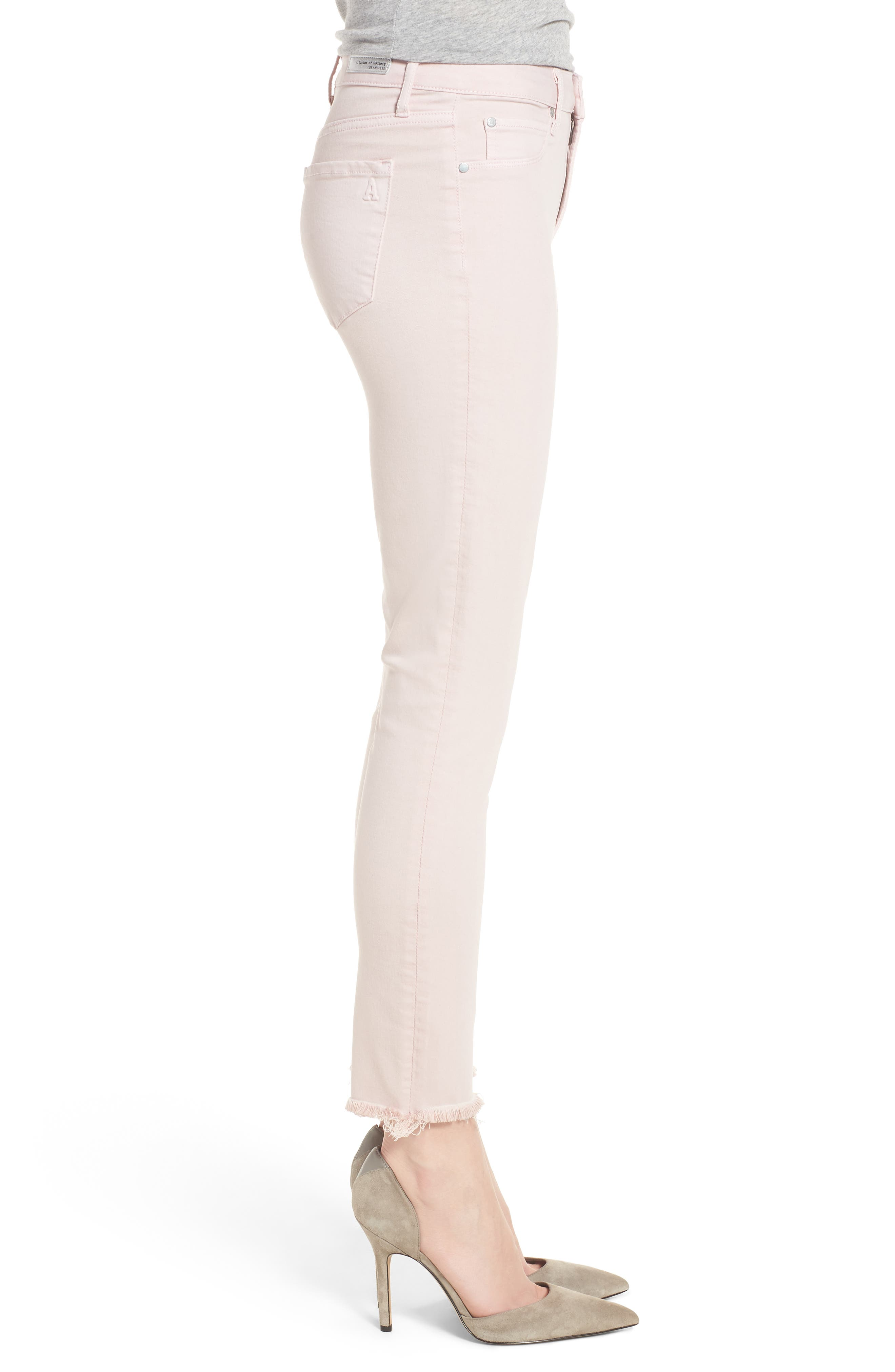 Carly Raw Hem Ankle Skinny Jeans,                             Alternate thumbnail 3, color,                             650