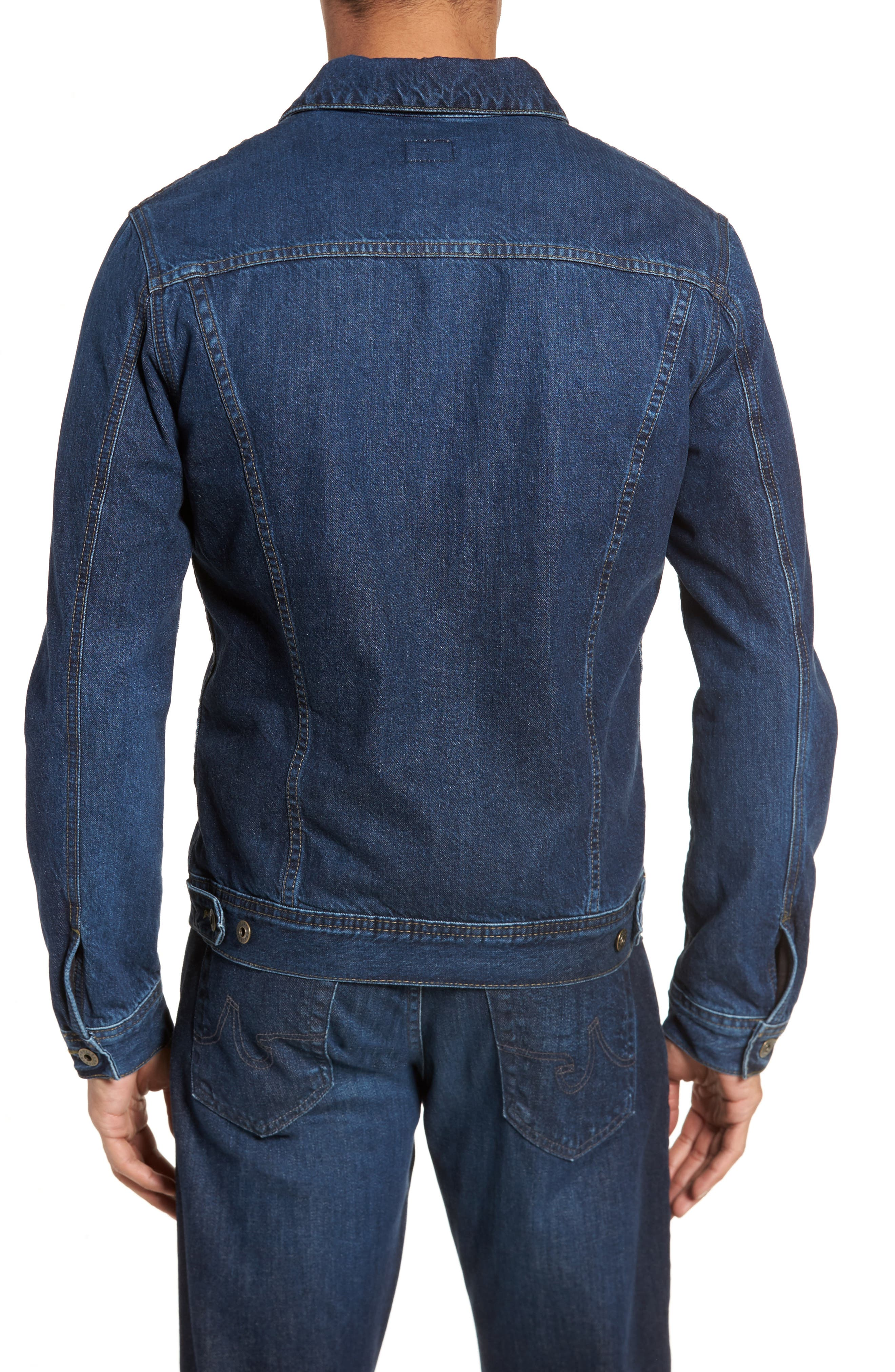 Regular Fit Lined Denim Jacket,                             Alternate thumbnail 2, color,