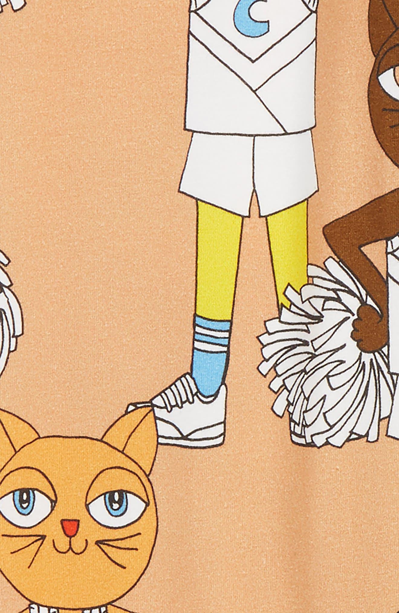 Cheer Cats Leggings,                             Alternate thumbnail 2, color,                             BIEGE