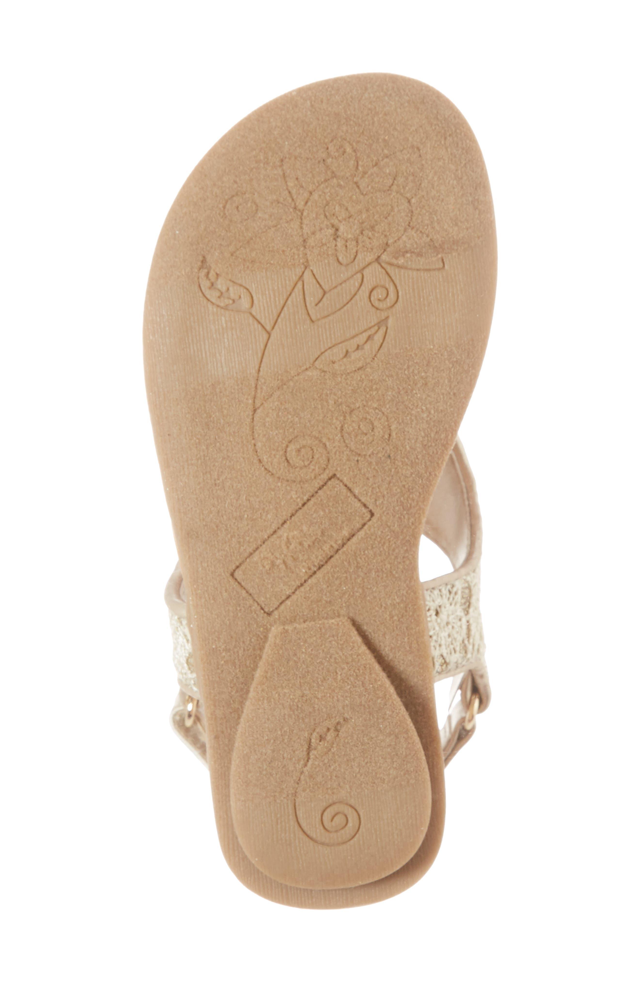 Ashlyn Glitter Thong Sandal,                             Alternate thumbnail 6, color,