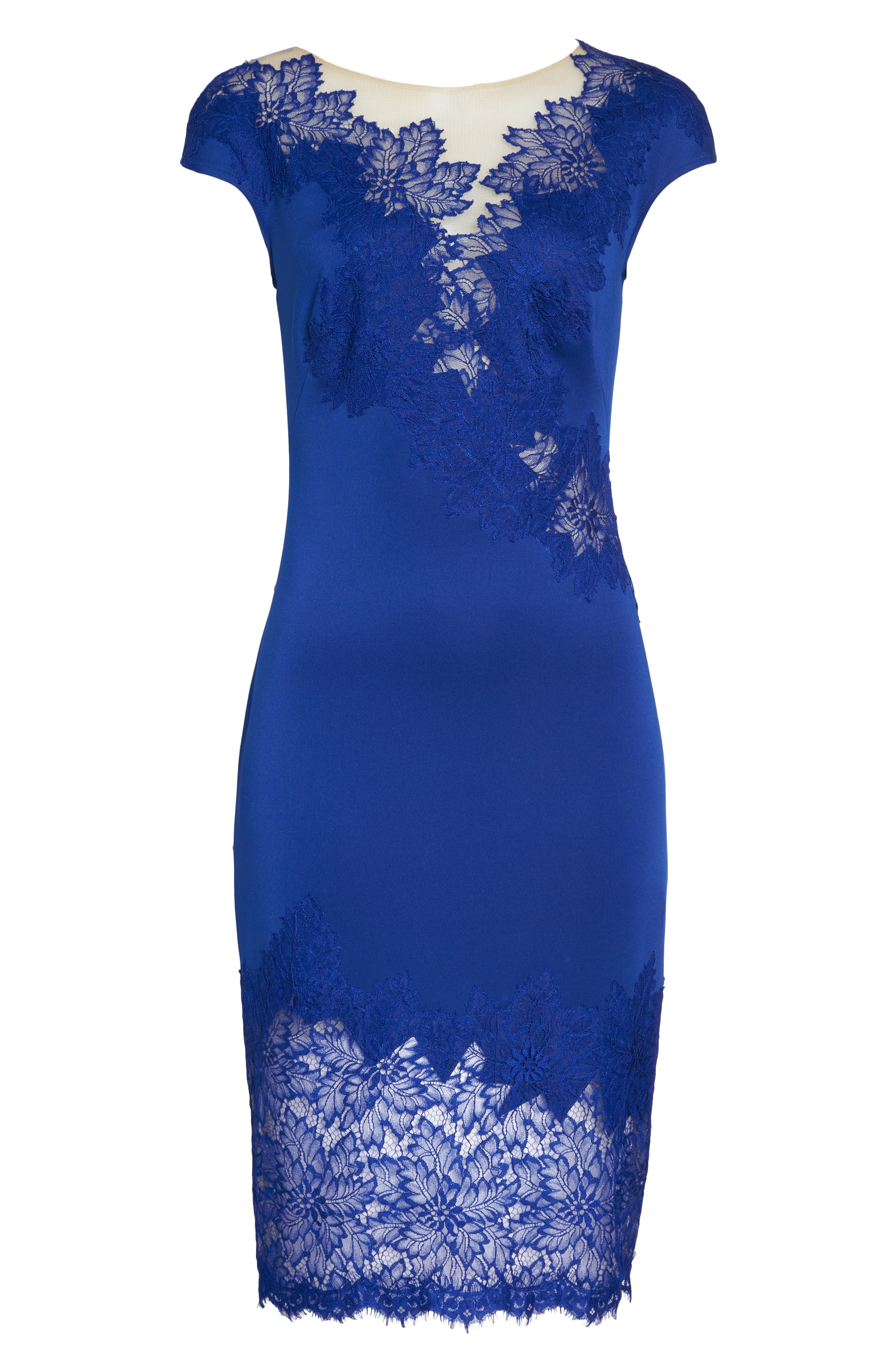 Lace Sheath Dress,                             Alternate thumbnail 6, color,                             LAKE