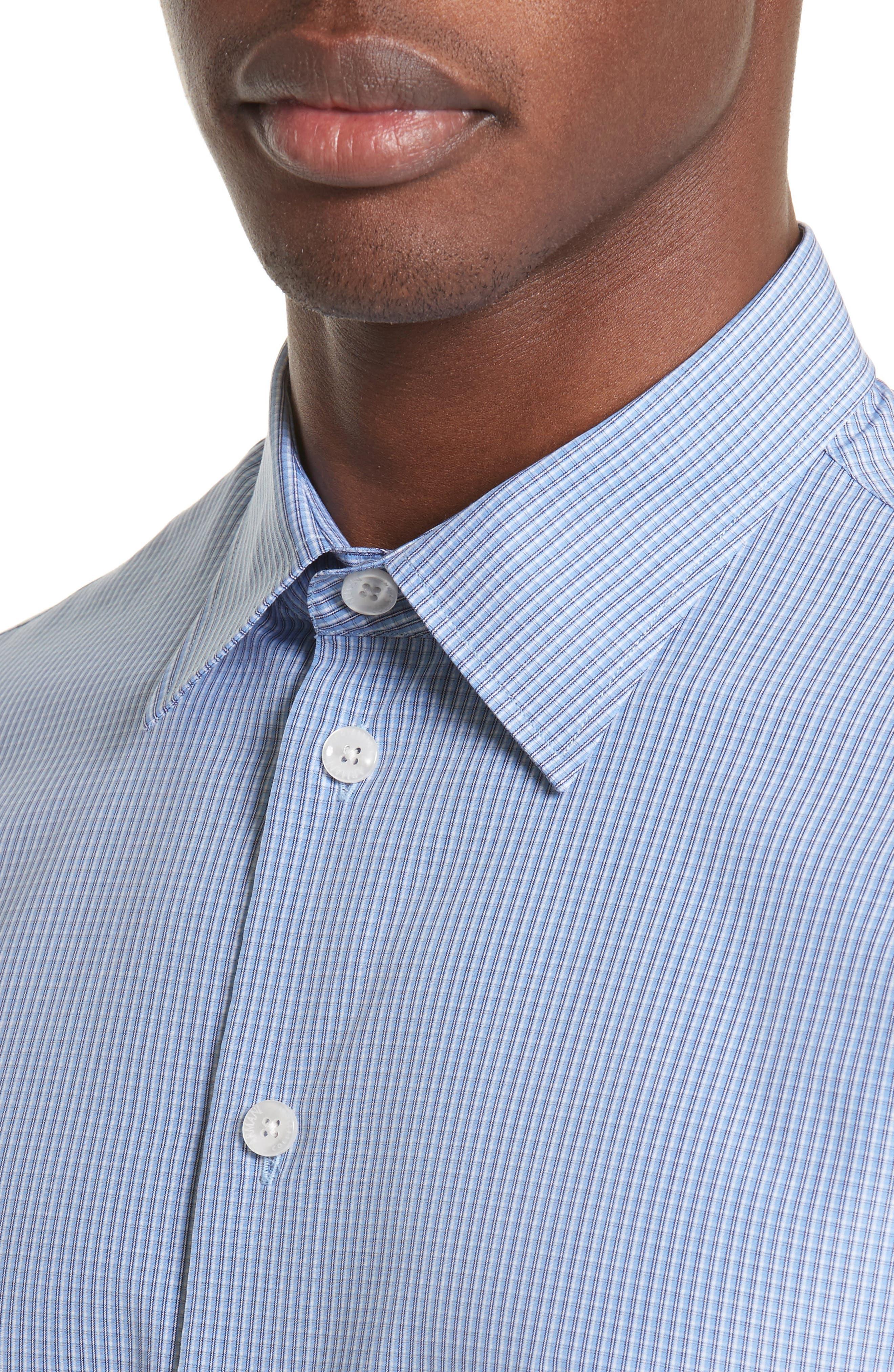 ARMANI COLLEZIONI,                             Micro Check Sport Shirt,                             Alternate thumbnail 4, color,                             482