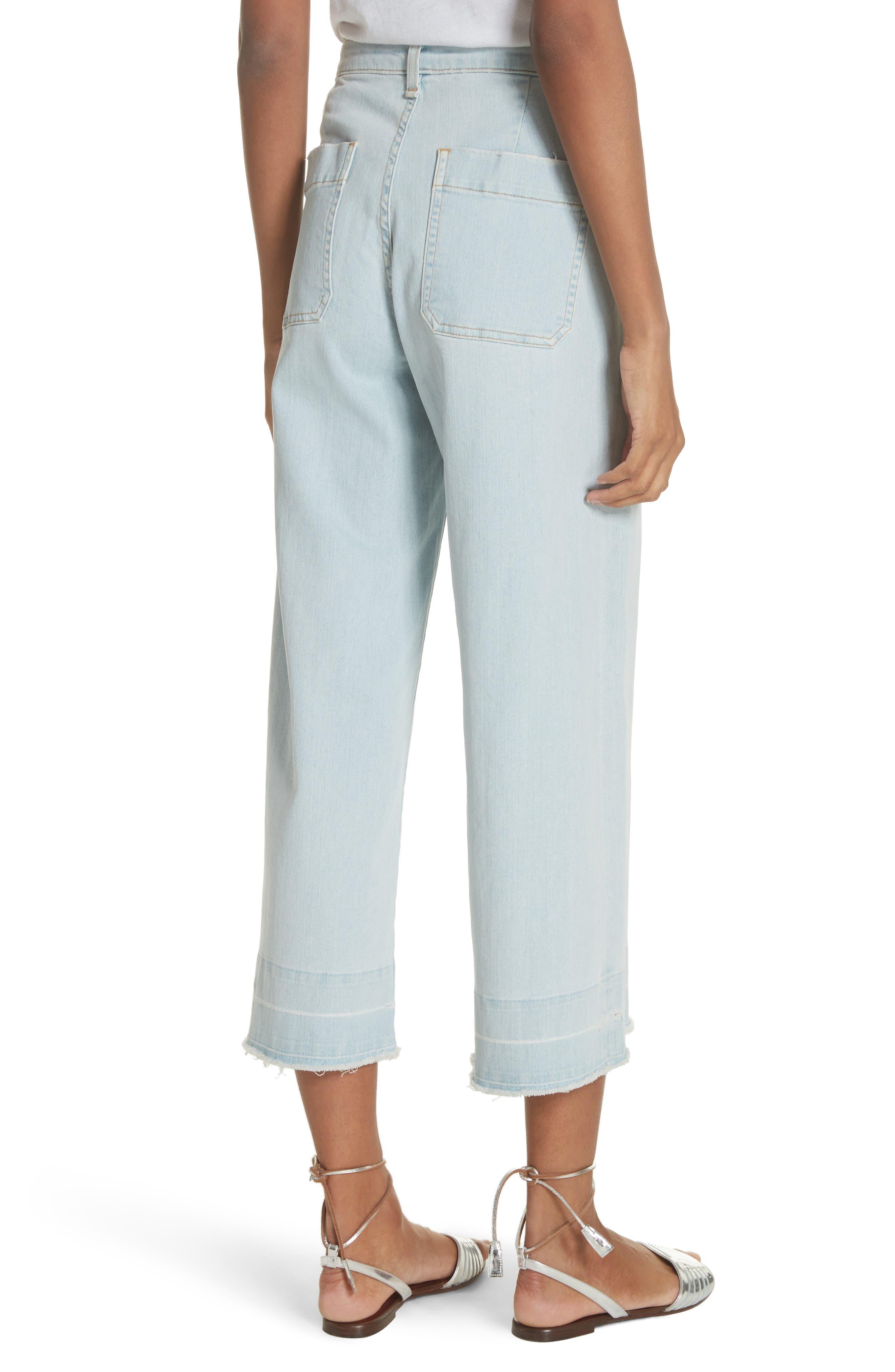 Ali High Waist Gaucho Jeans,                             Alternate thumbnail 2, color,                             400