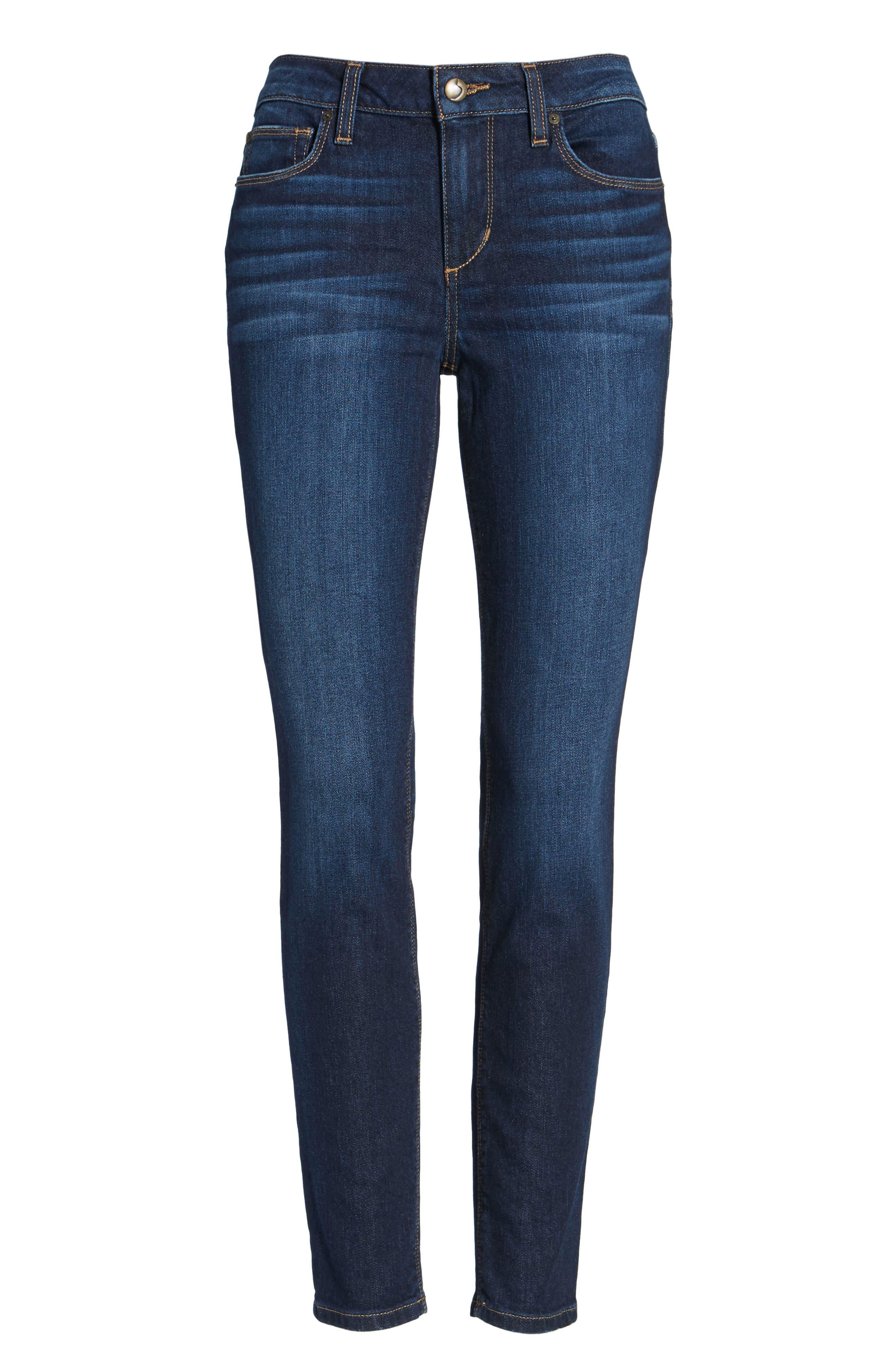 Icon Ankle Raw Hem Skinny Jeans,                             Alternate thumbnail 6, color,                             400