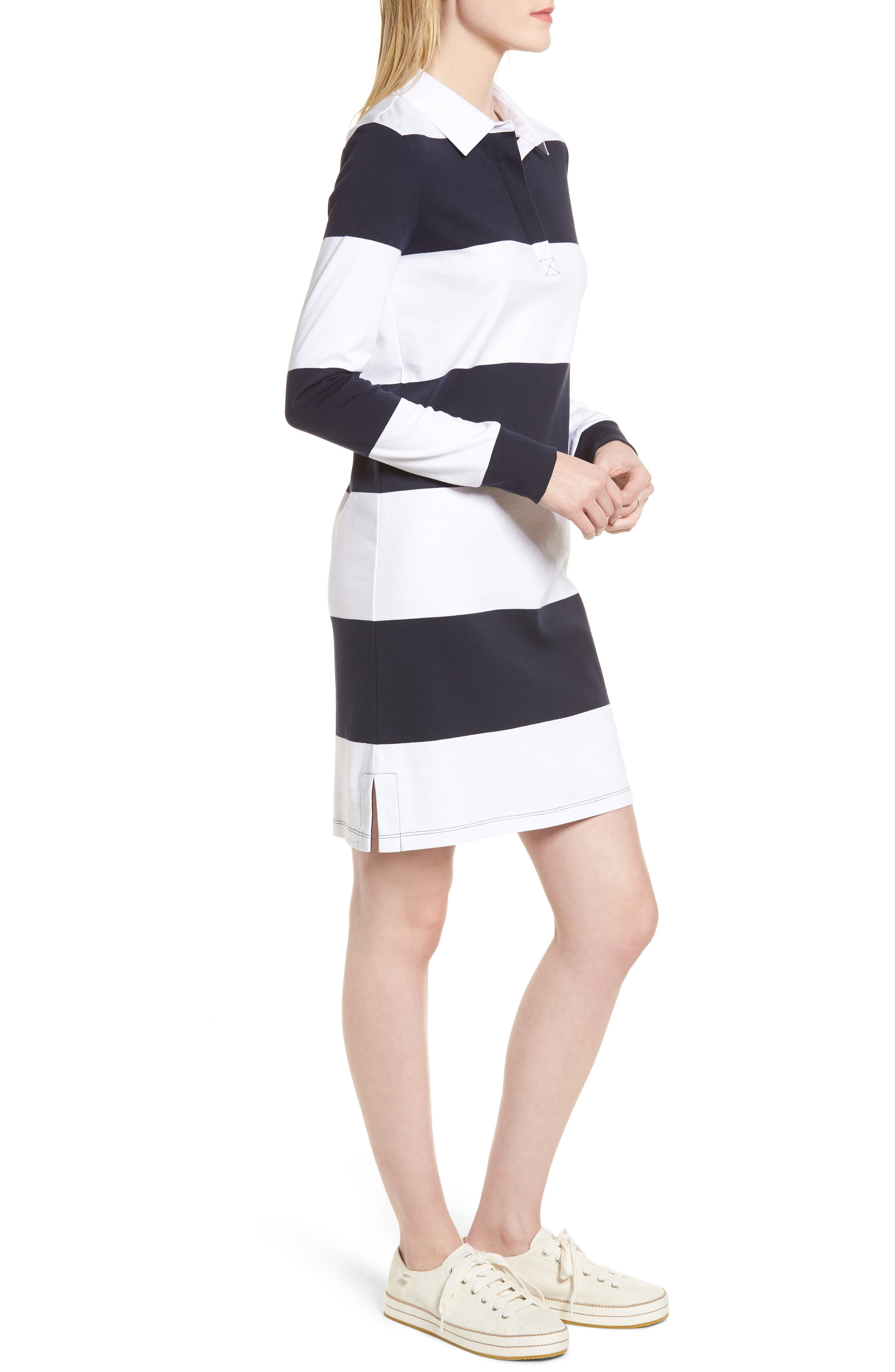 Cotton Rugby Dress,                             Alternate thumbnail 3, color,                             410
