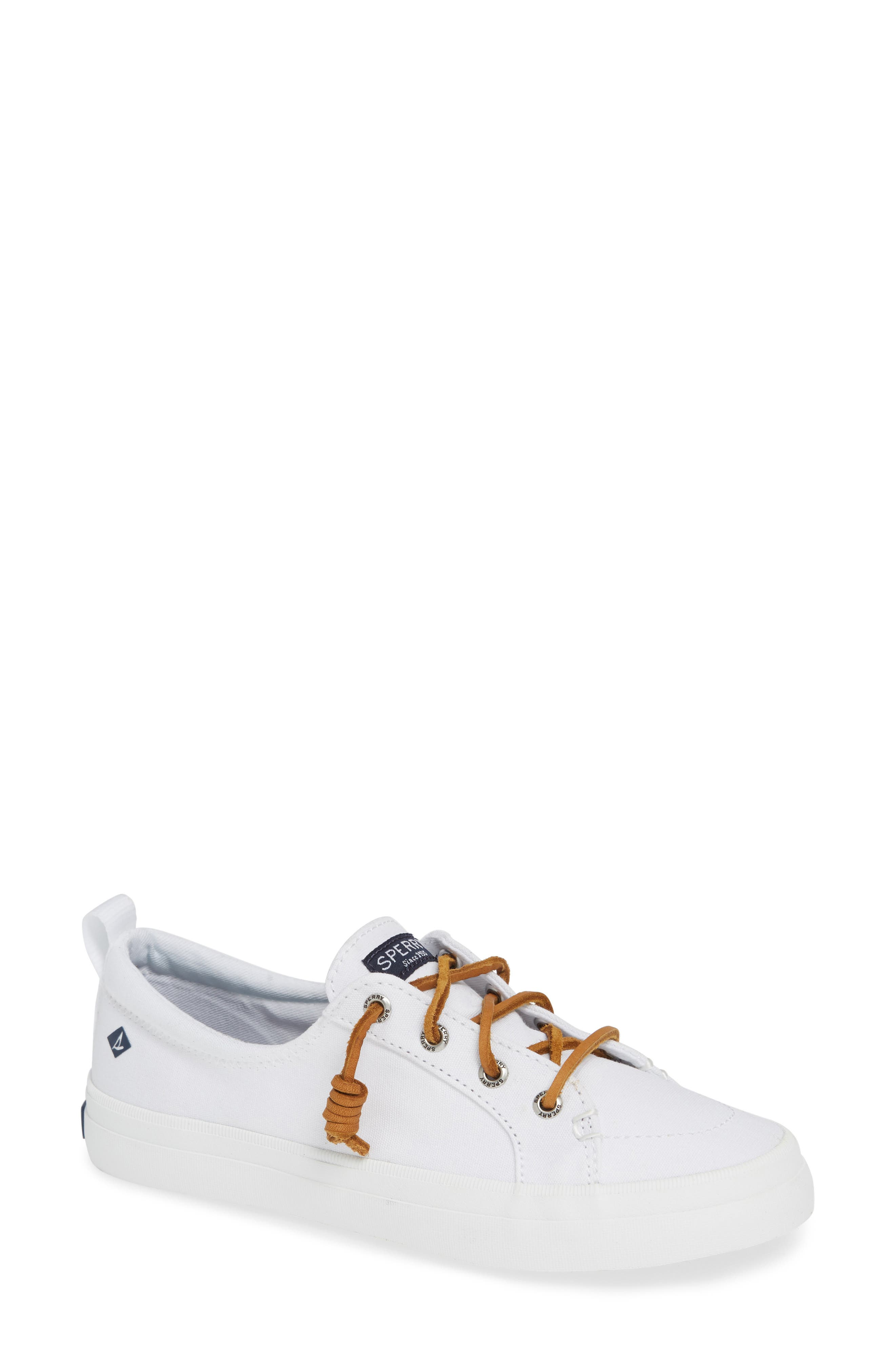 Crest Vibe Sneaker,                         Main,                         color, WHITE
