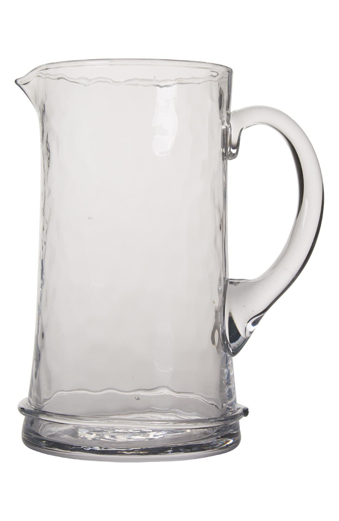 'Carine' Glass Pitcher,                             Main thumbnail 1, color,                             WHITE